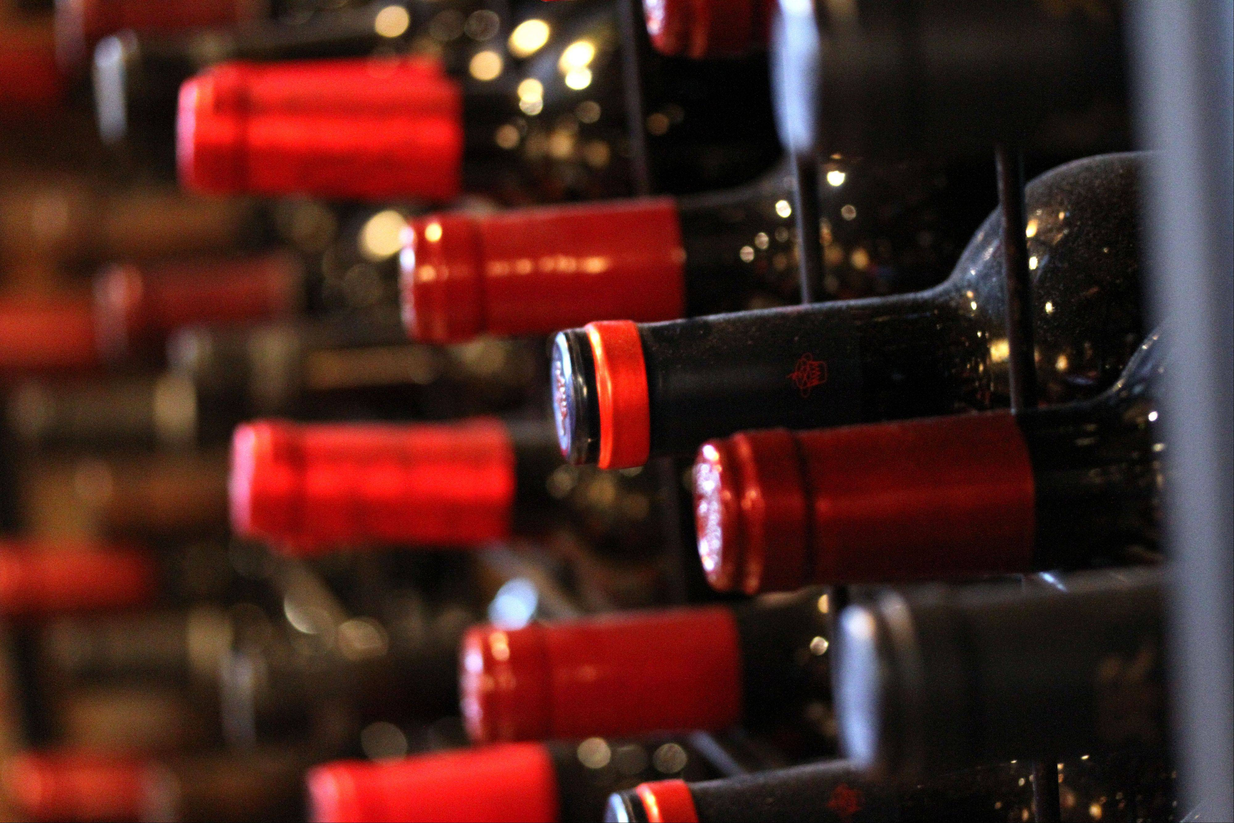 Any of the wines at Bacchus Nibbles in Lake Zurich can be enjoyed while you dine or purchased for home consumption.