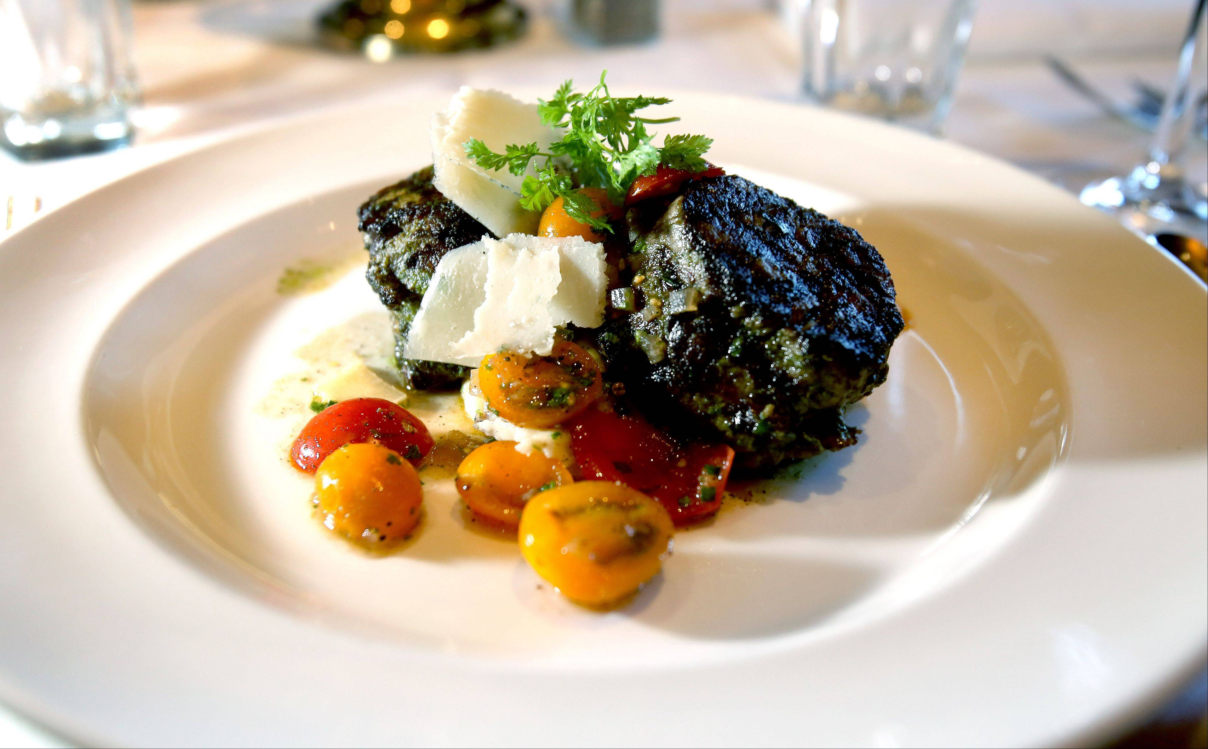 Chicago Restaurant Week diners can sample Parmesan herb marinated tournedos with heirloom tomatoes at The Capital Grille in Lombard.