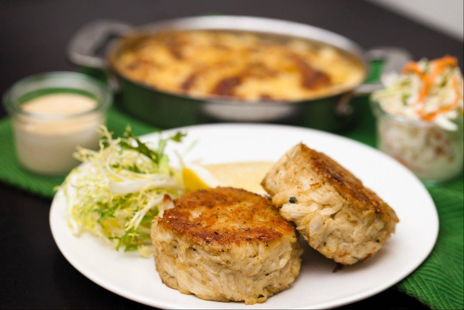Crab cakes are just one of the featured dishes at Shaw's Crab House in Schaumburg during Chicago Restaurant Week.