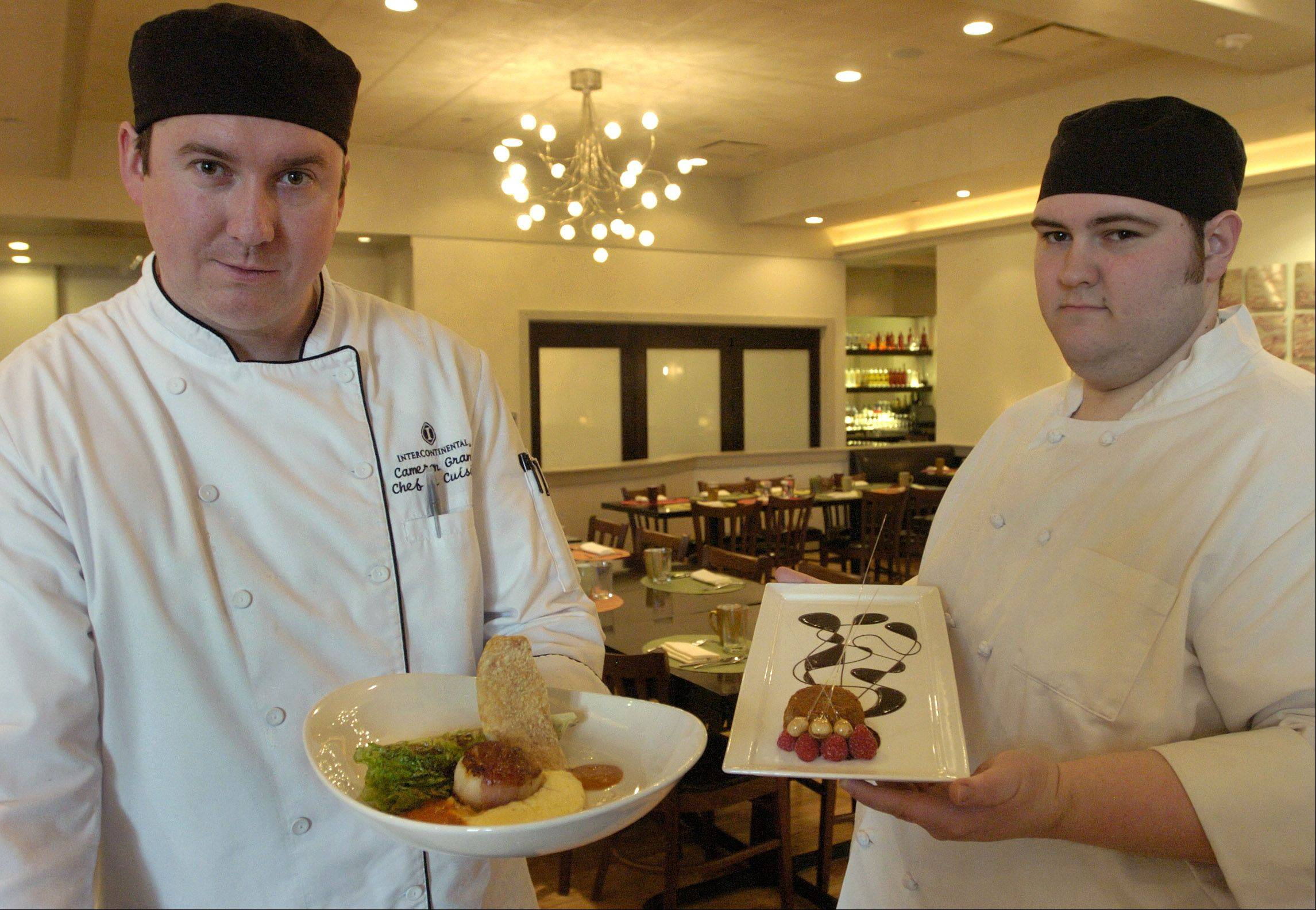 Chef de cuisine Cameron Grant, left, and pastry chef Mark Becker, of Fresco 21 in Rosemont, will whip up specialty dishes for diners during Chicago Restaurant Week.