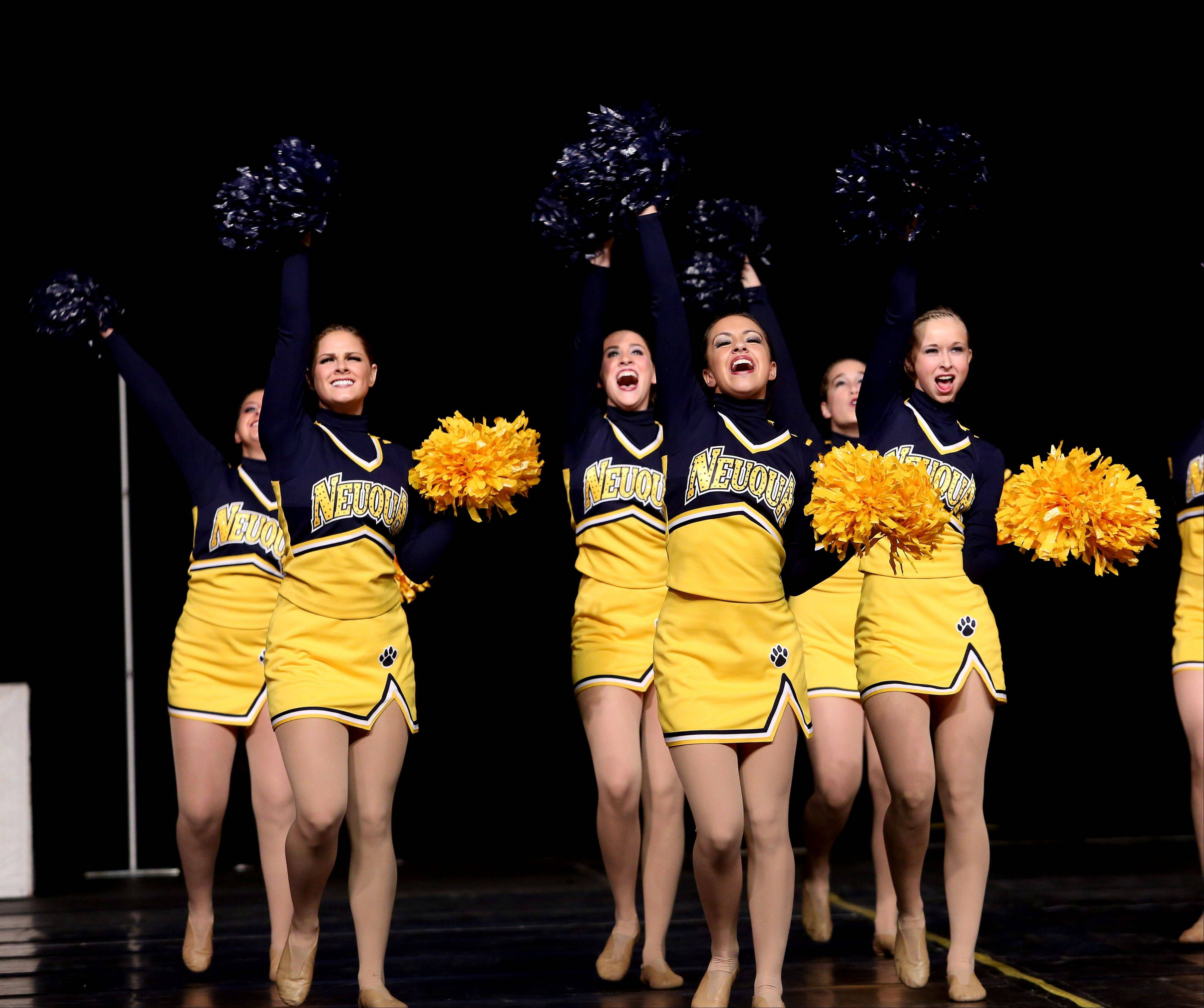 The Neuqua Valley dance team perform their routine in the 3A division of the Competitive Dance State Finals on Saturday in Bloomington.