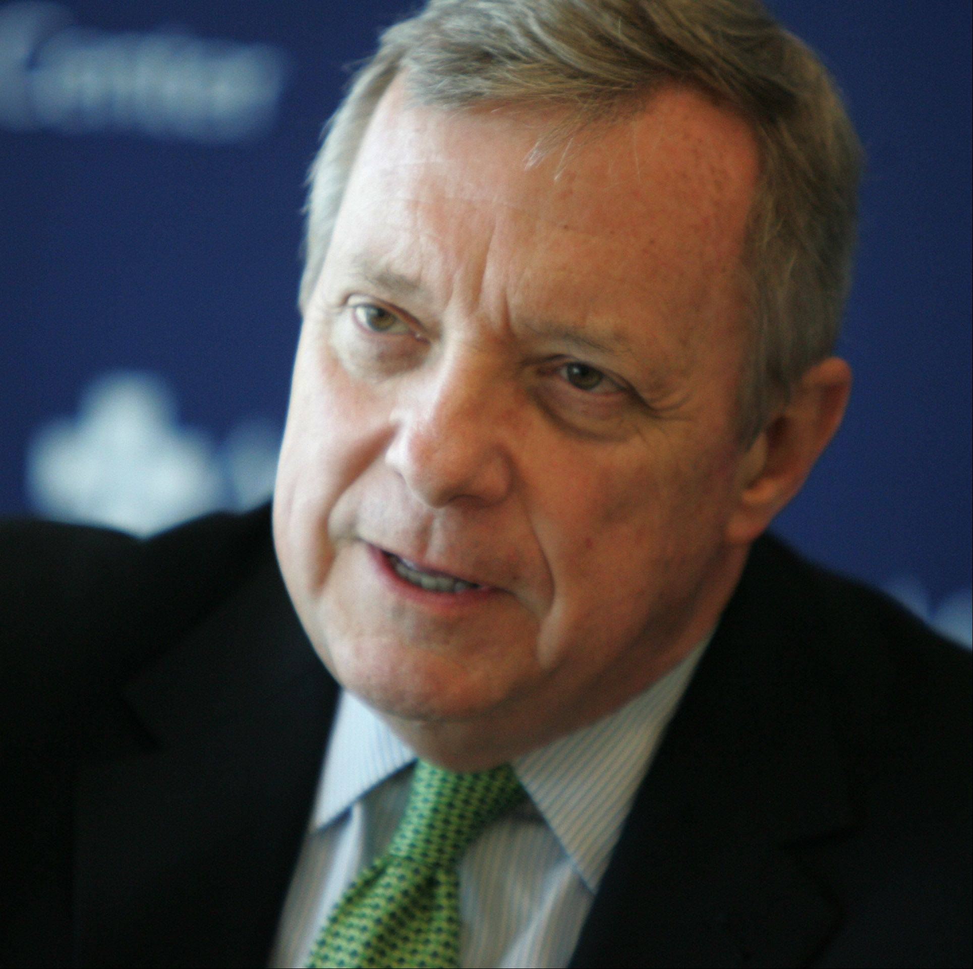 U.S. Sen. Dick Durbin, a Springfield Democrat, is the new chairman of the Senate's Defense Appropriations Subcommittee.