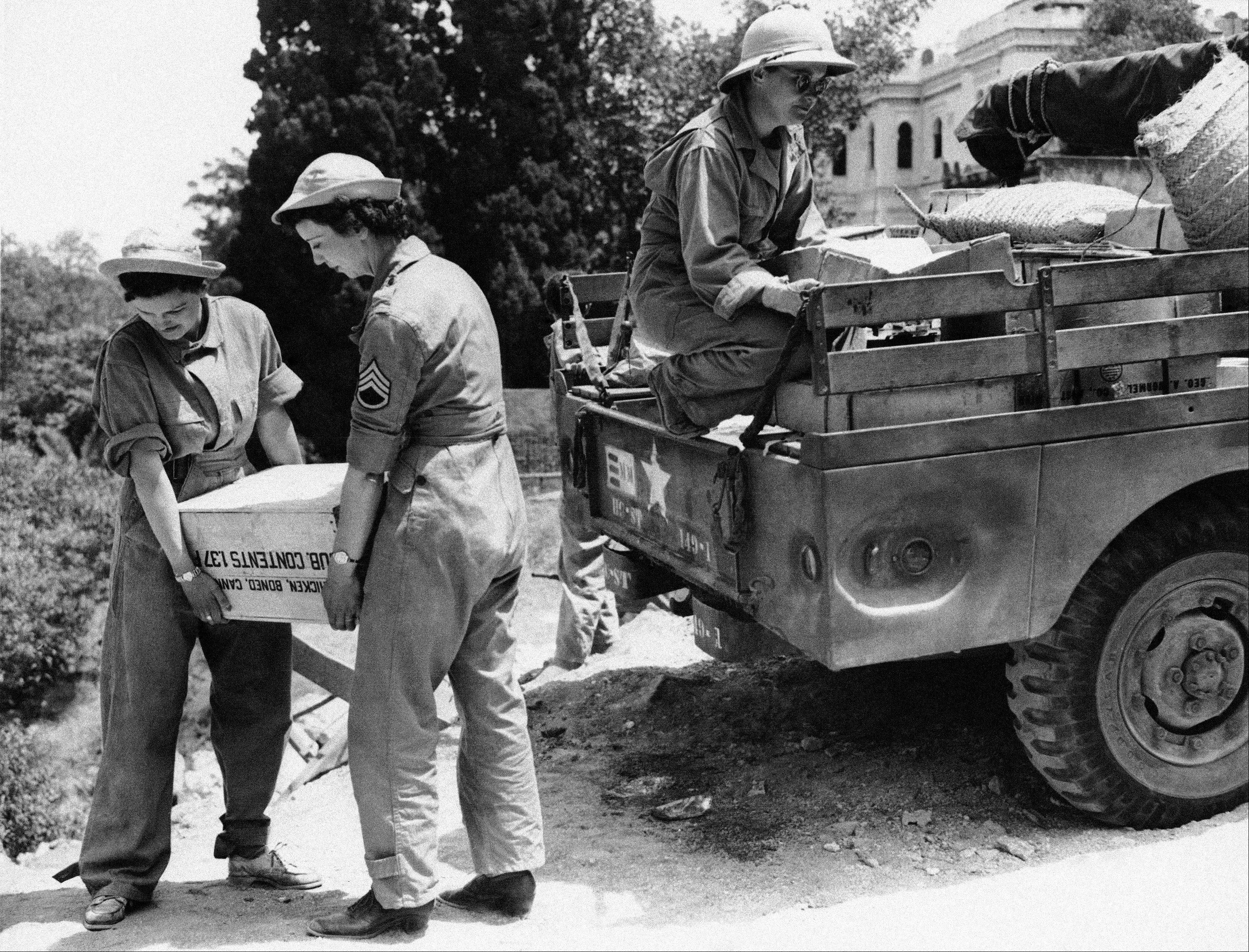 Sept. 11, 1943: Women Army Corps (WAC) soldiers unload supplies somewhere in North Africa.