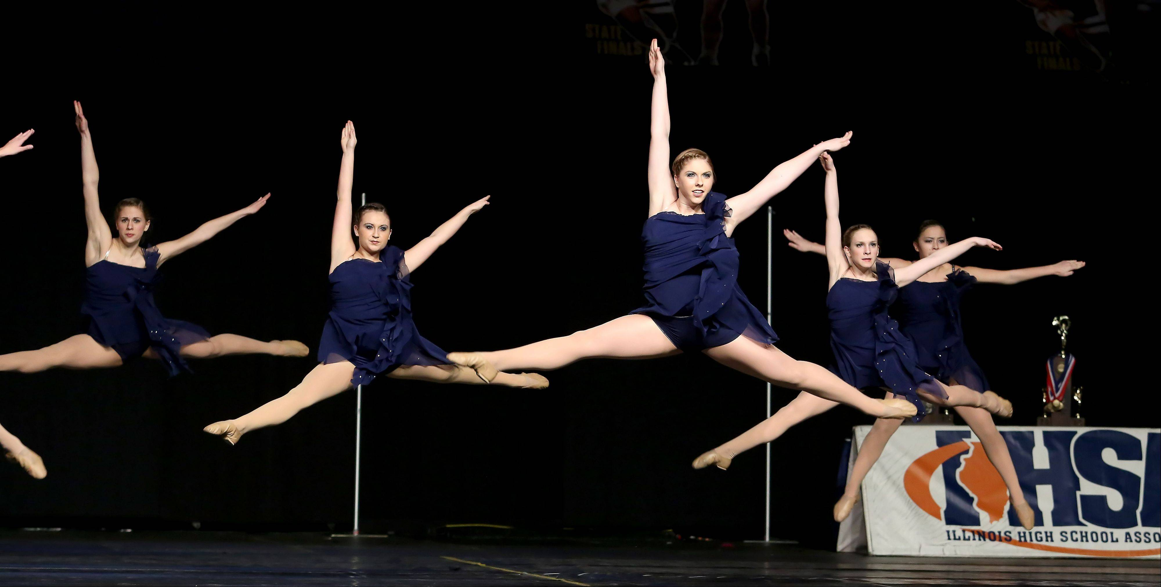 Naperville North competes in the 3A division of the Competitive Dance State Preliminaries on Friday in Bloomington.