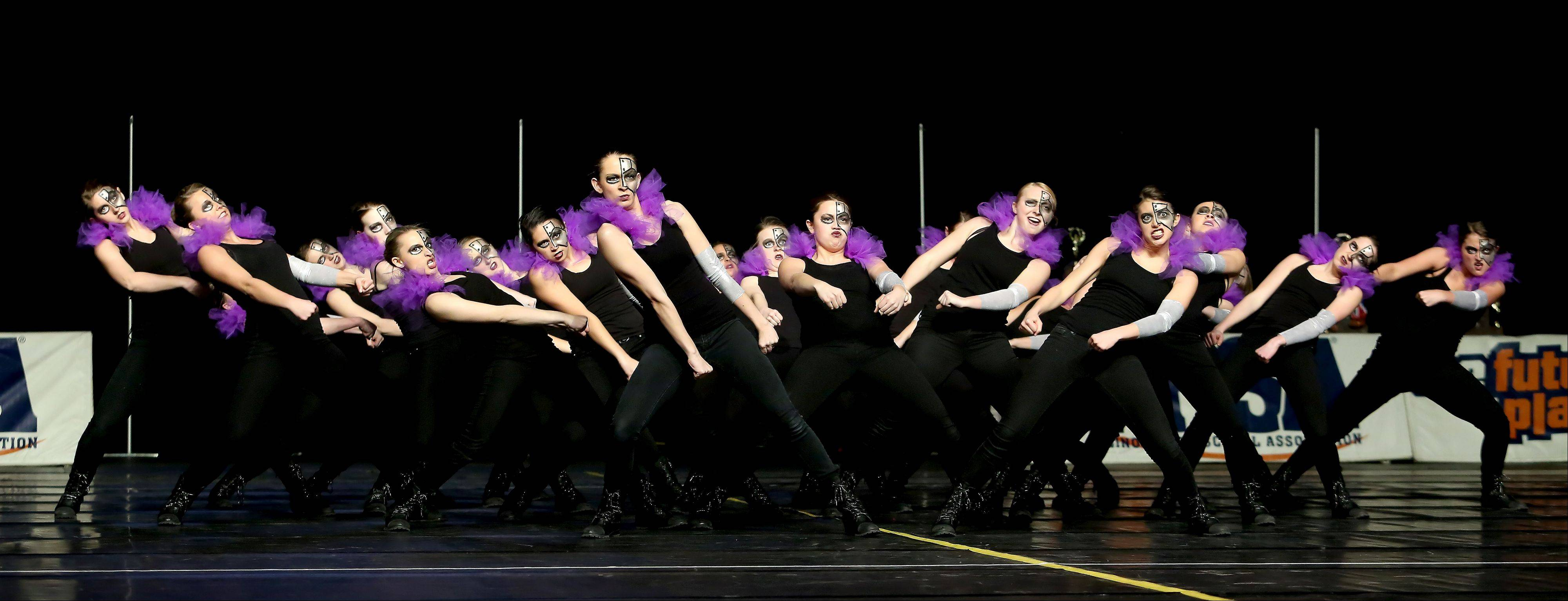 Jacobs High School performs in the 3A division of the Competitive Dance State Preliminaries on Friday in Bloomington.