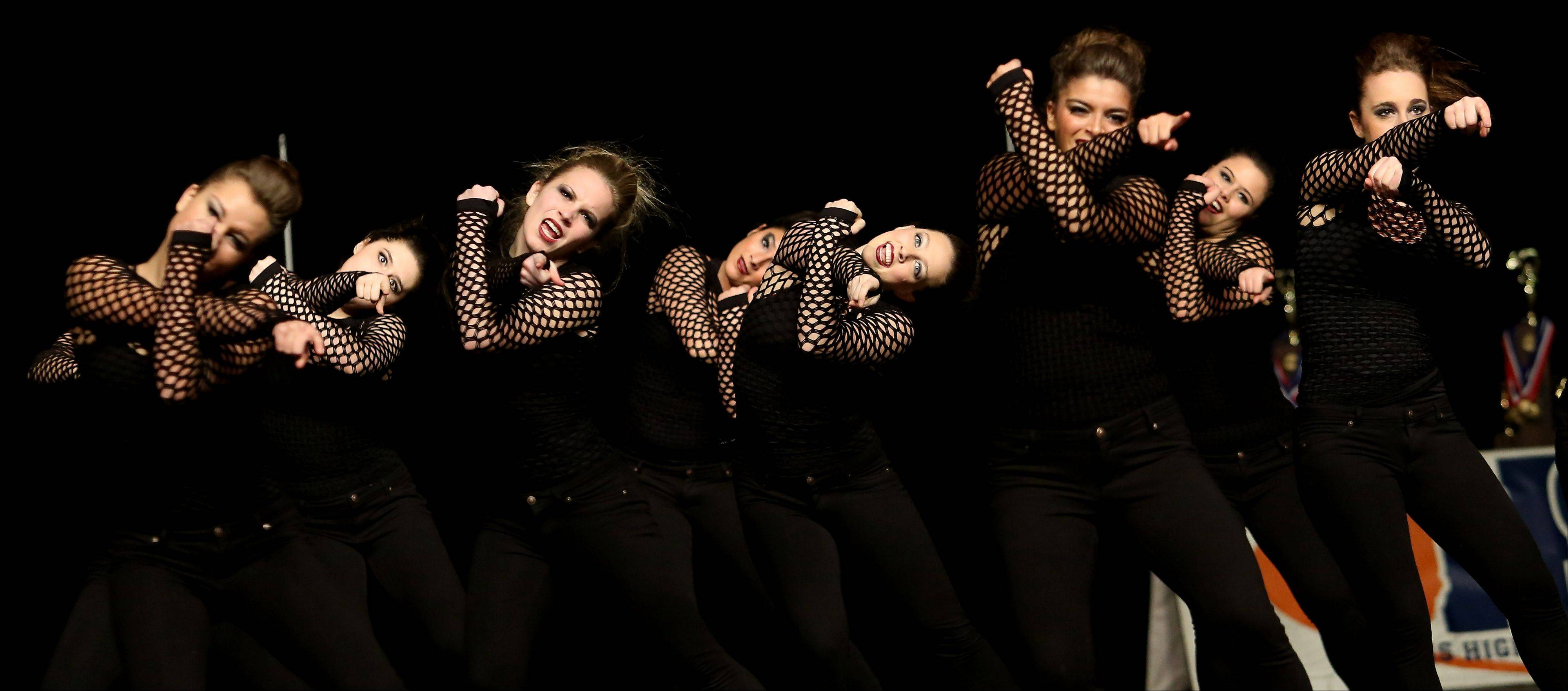 Lake Park High School performs in the 3A division in the Competitive Dance State Preliminaries on Friday in Bloomington.