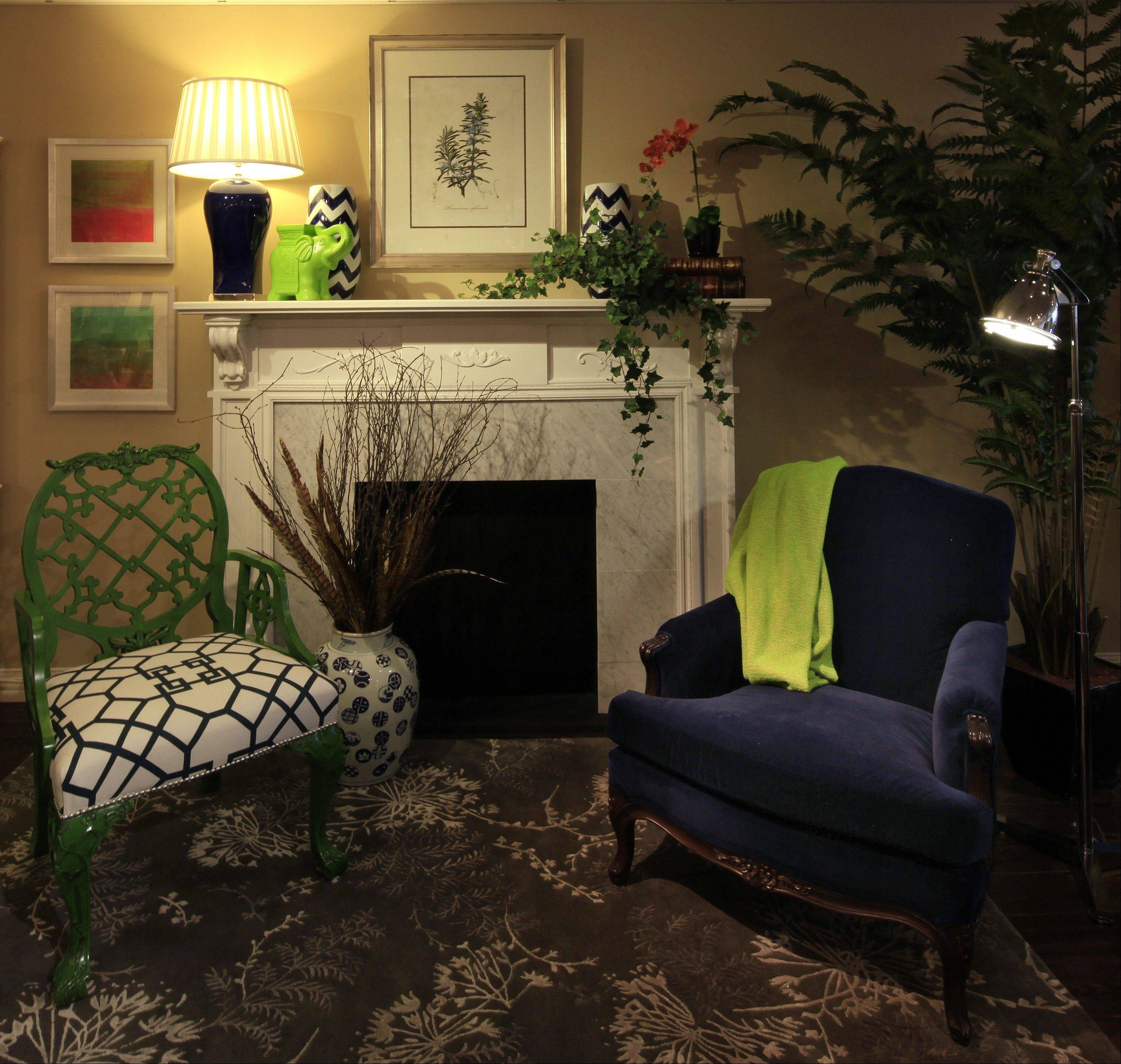 A cozy winter scene at Gabberts in the Galleria in Edina, Minn. Give your house a new look for the new year.