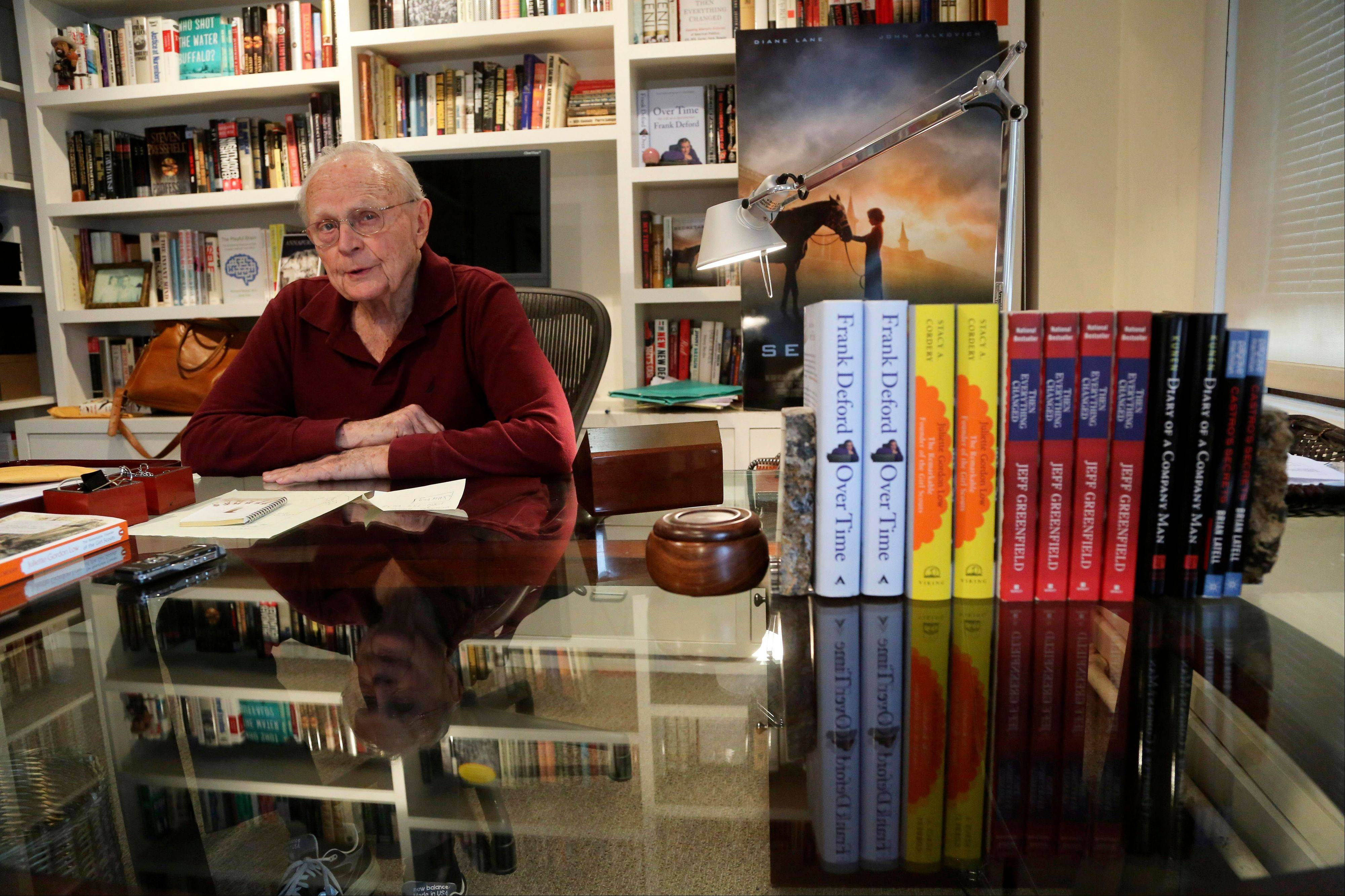 Literary agent Sterling Lord speaks during an interview in his New York office. Lord is now 92-years-old and still keeps regular hours, at the bright, downtown offices of Sterling Lord Literistic Inc.