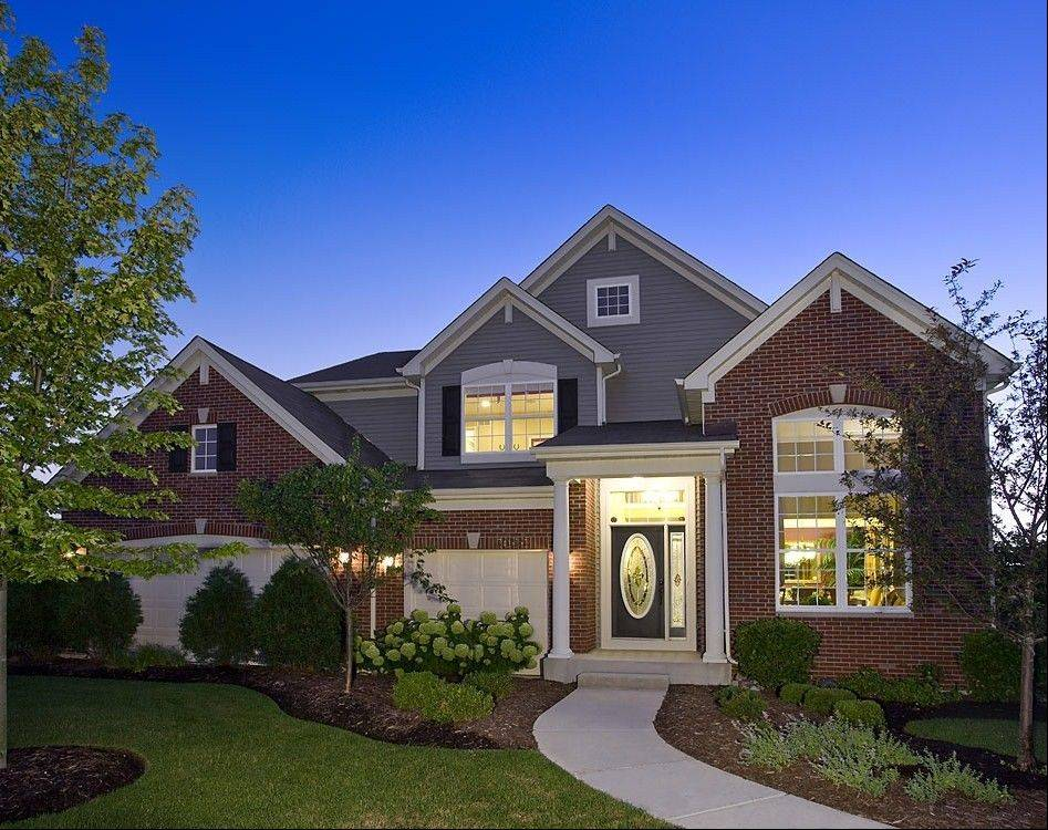 Ryland is building homes in a number of Chicago-area communities, like this Weston model at Blackberry Crossing in Montgomery.