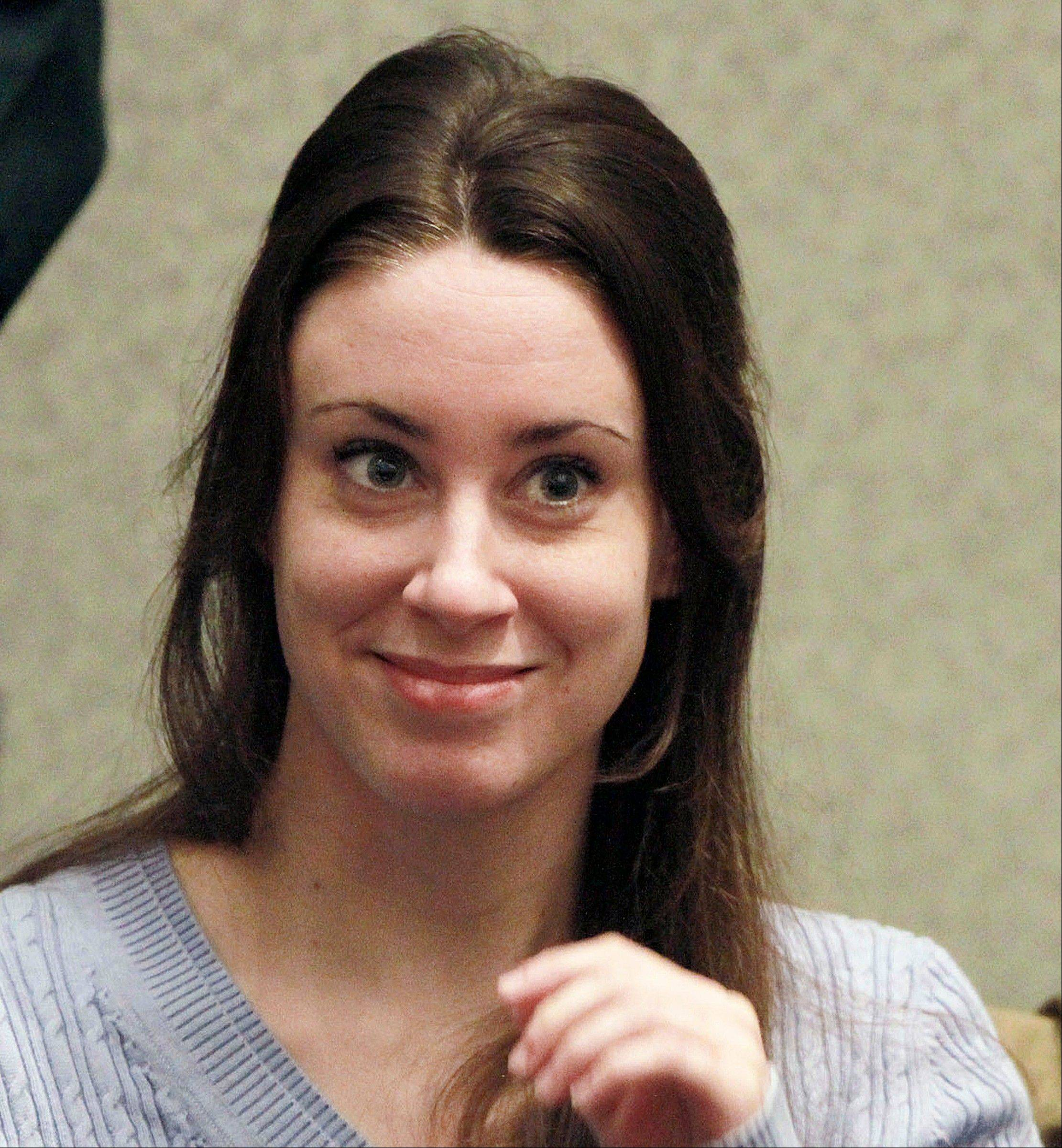 In this July 7, 2011 file photo, Casey Anthony smiles before the start of her sentencing hearing in Orlando, Fla. Casey Anthony has filed for bankruptcy in Florida, Friday, Jan. 25, 2013, claiming about $1,100 in assets and $792,000 in liabilities.