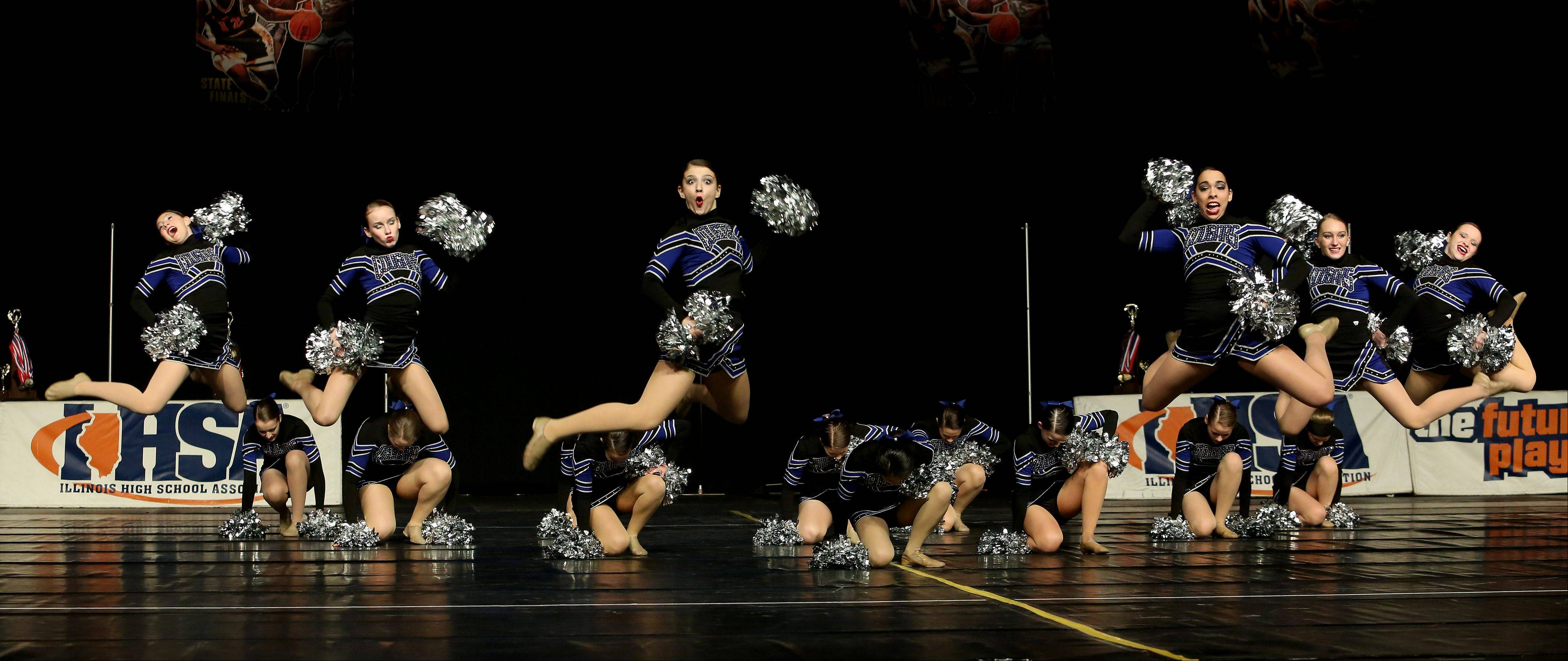 The Vernon Hills dance team compete in the 2A division of the Competitive Dance State Finals on Saturday in Bloomington.