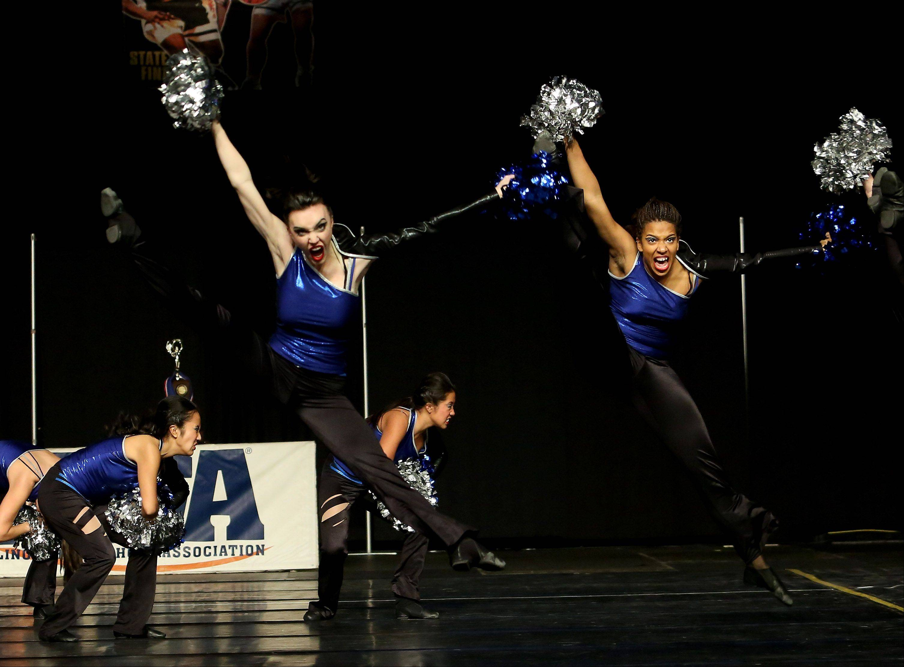 Downers Grove South performs in the 3A division of the Competitive Dance State Finals on Saturday in Bloomington.