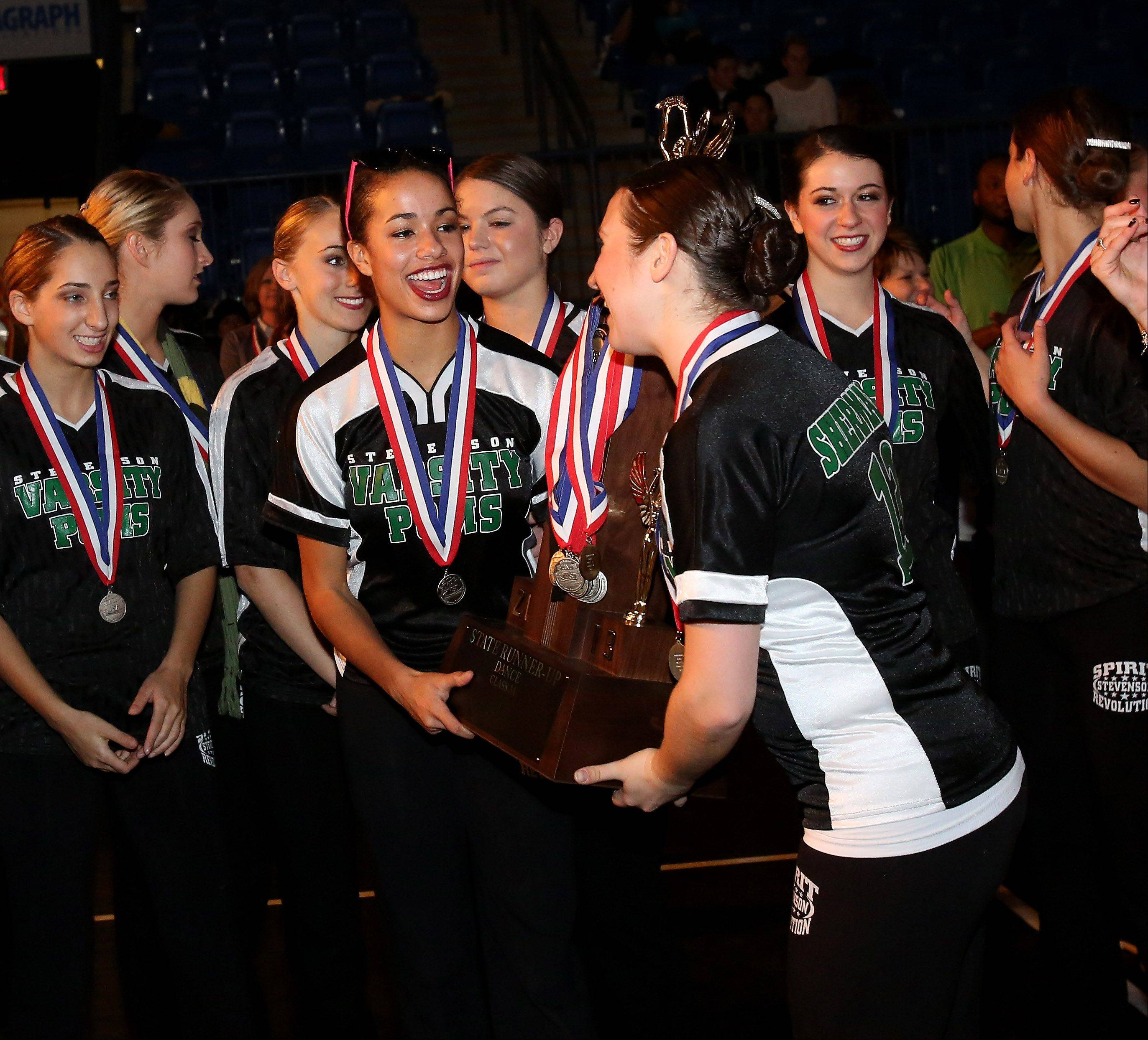 Stevenson High School won second place in the 3A division of the Competitive Dance State Finals on Saturday in Bloomington.