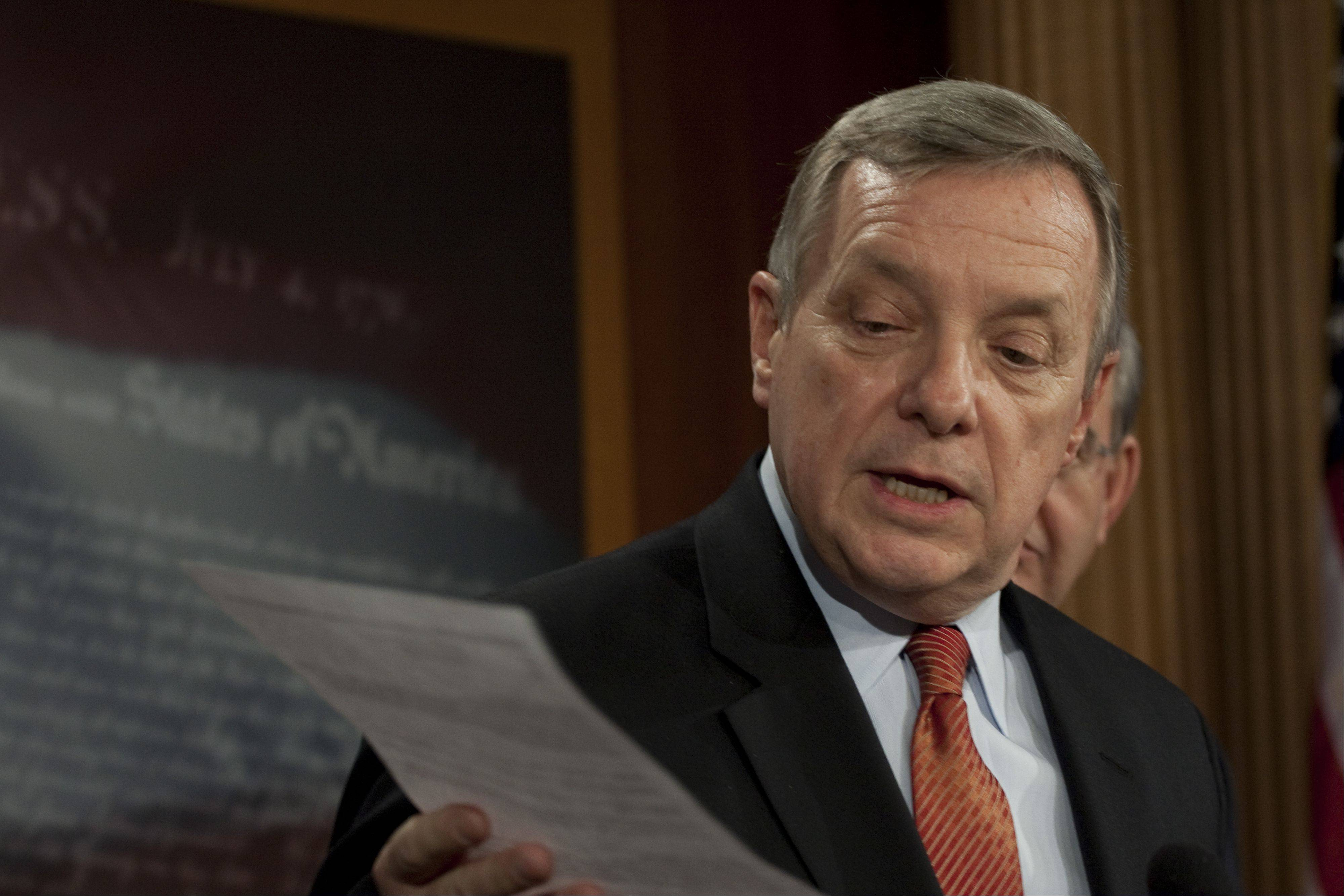 ASSOCIATED PRESS Sen. Richard Durbin said Senate lawmakers �are committed to a comprehensive approach to finally, in this country, have an immigration law we can live with.�