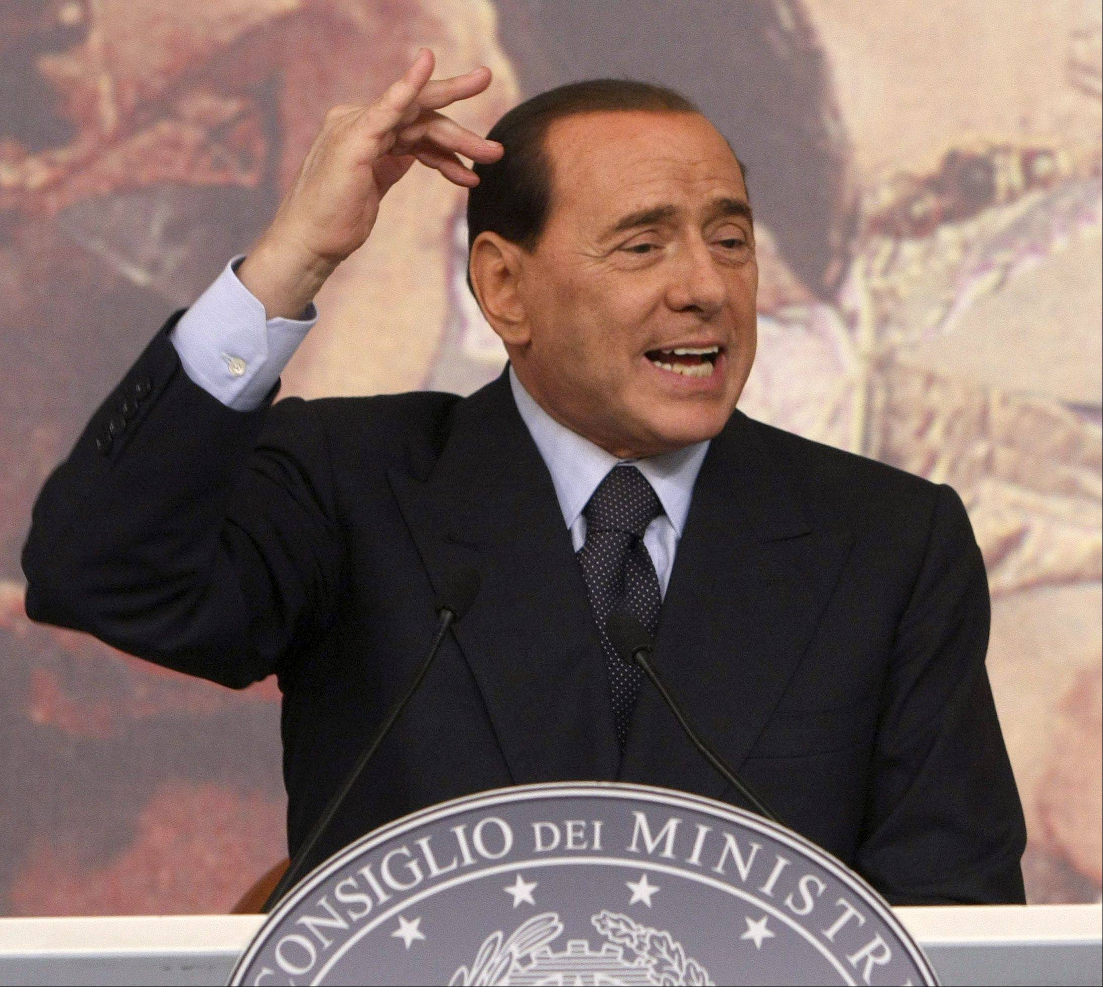 Former Italian Premier Silvio Berlusconi praised the fascist regime of dictator Benito Mussolini on Sunday as he attended a ceremony to mark Holocaust Remembrance Day.