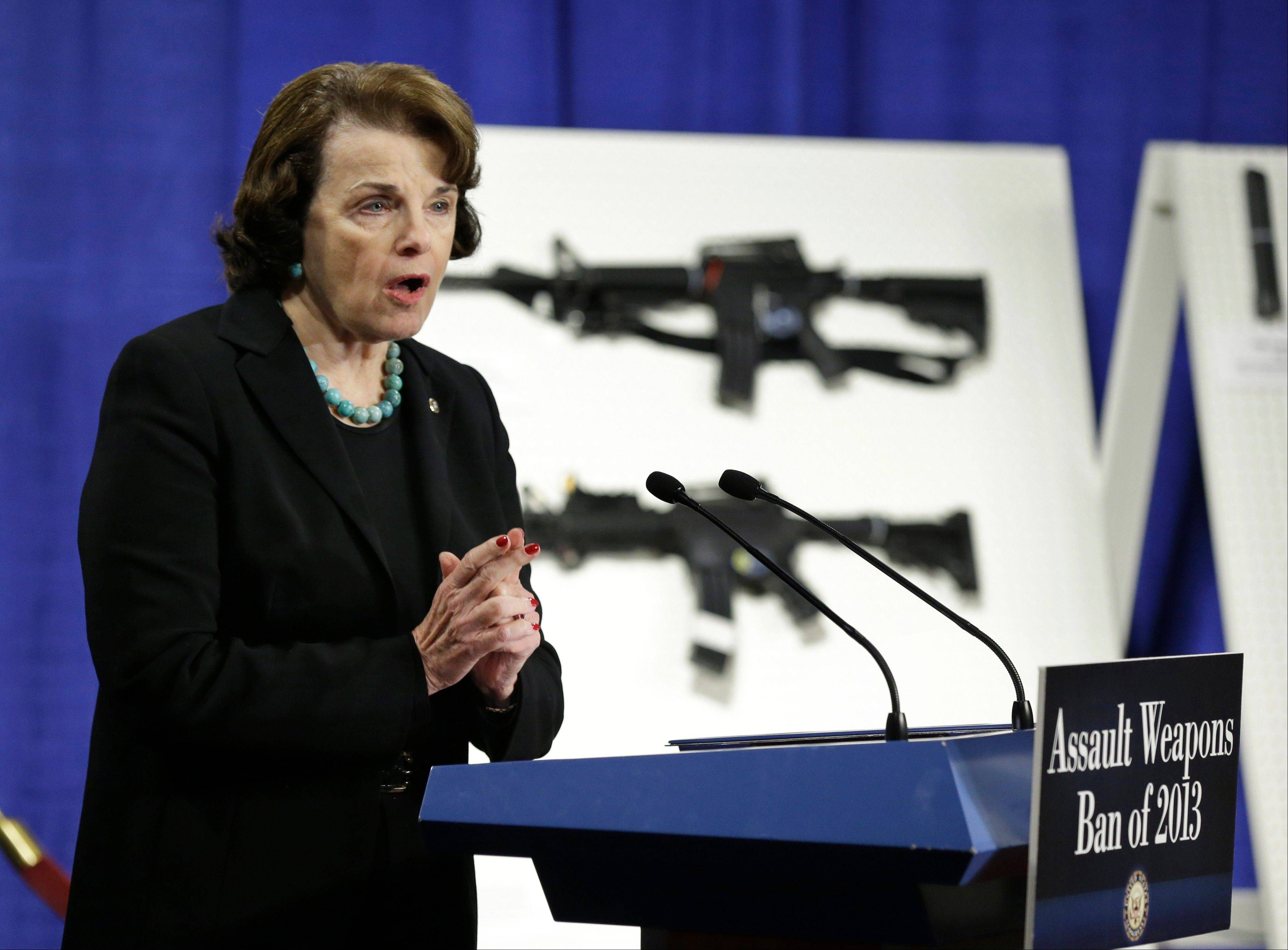 Sen. Dianne Feinstein has introduced legislation on assault weapons and high-capacity ammunition feeding devices.