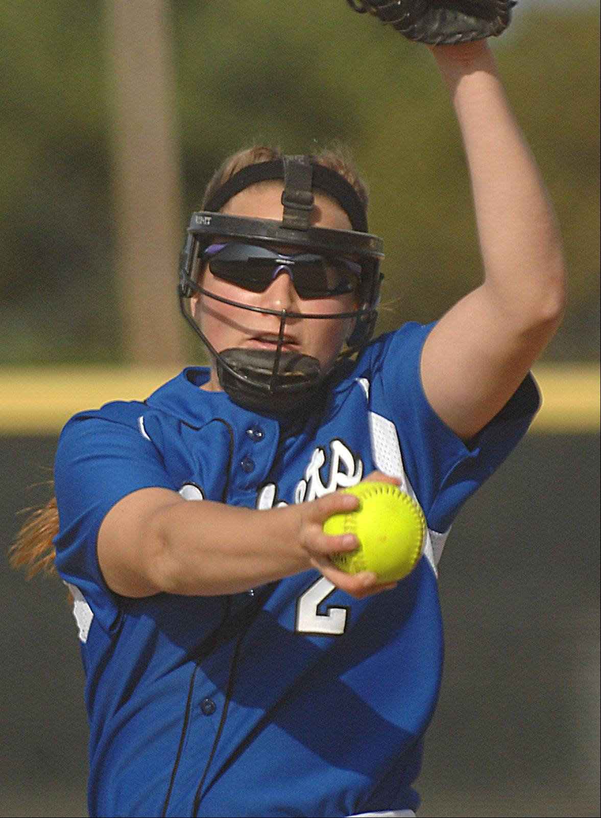 Burlington Central sophomore pitcher Angie Morrow has accepted a scholarship offer from the University of Wisconsin.