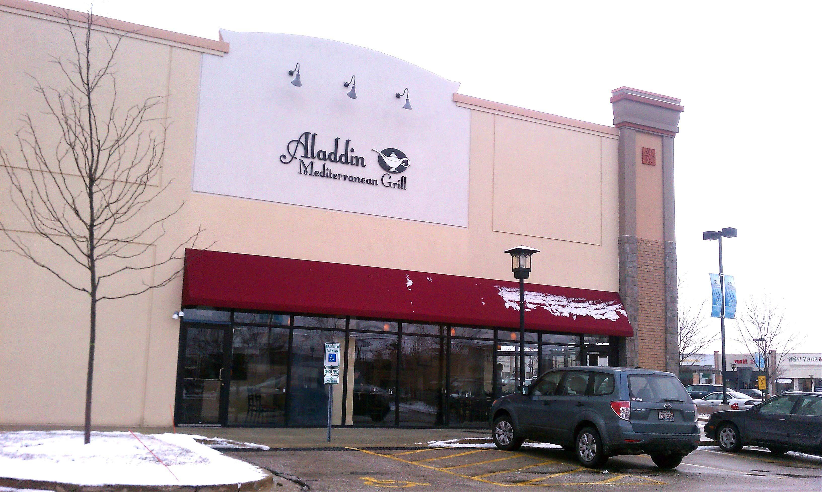 Aladdin Mediterranean Grill has opened at Algonquin Commons.