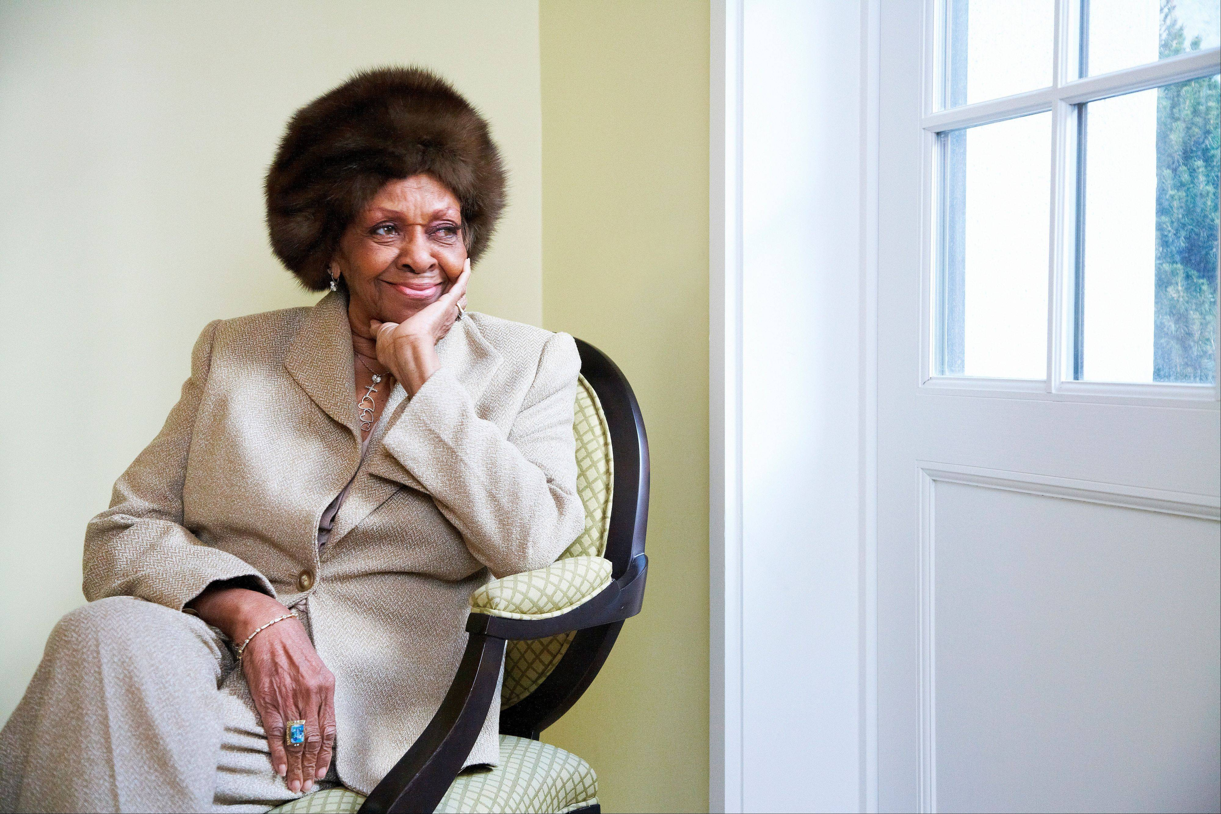 "This Jan. 22, 2013 photo shows American gospel singer and author Cissy Houston posing for a portrait in New York. Houston, mother of the late singer Whitney Houston, is releasing a book, ""Remembering Whitney,"" on Tuesday, Jan. 29."