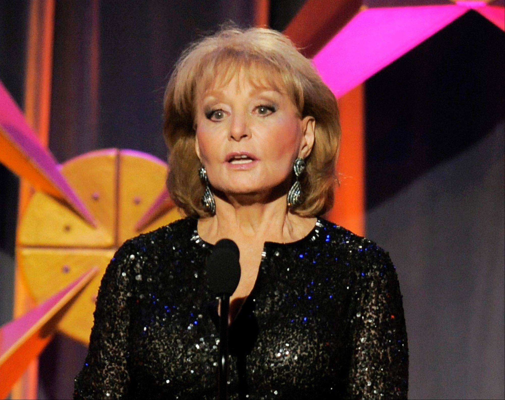 Barbara Walters has the chickenpox and remains hospitalized more than a week after falling and hitting her head at a pre-inaugural party in Washington on Jan. 19.