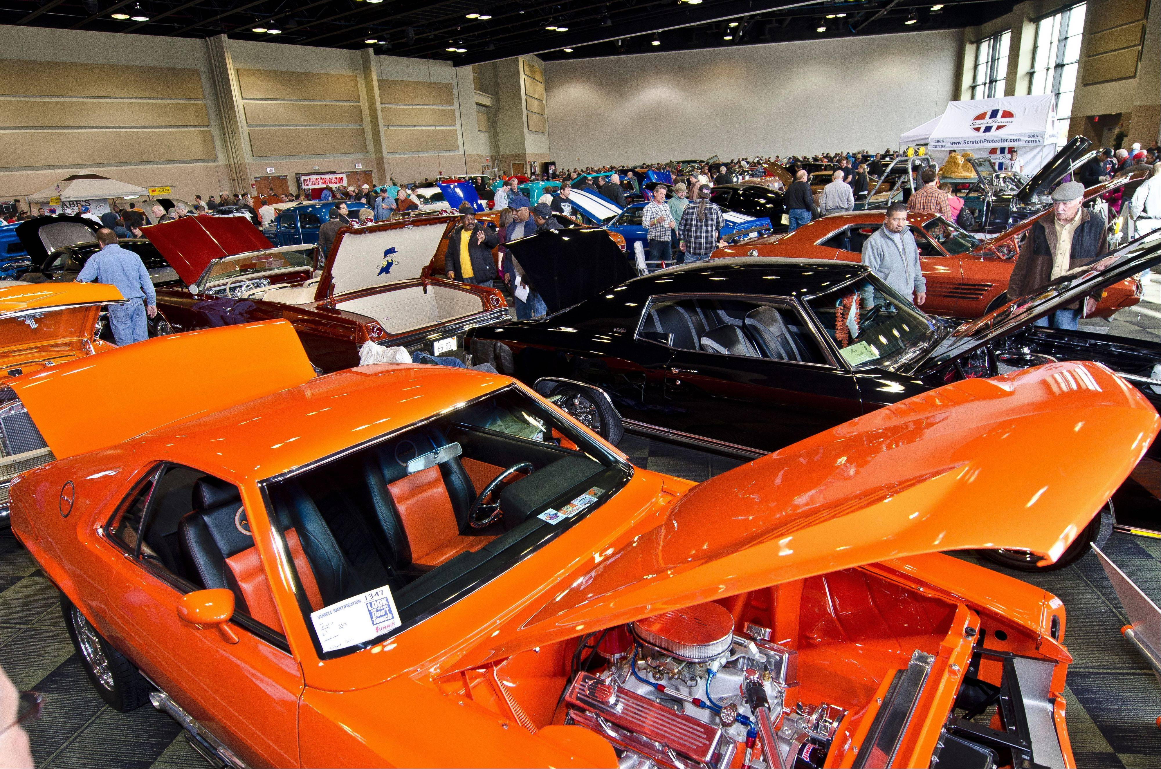 Many car enthusiasts displayed their work at the third annual Custom Rides Car Show and Expo in Tinley Park.