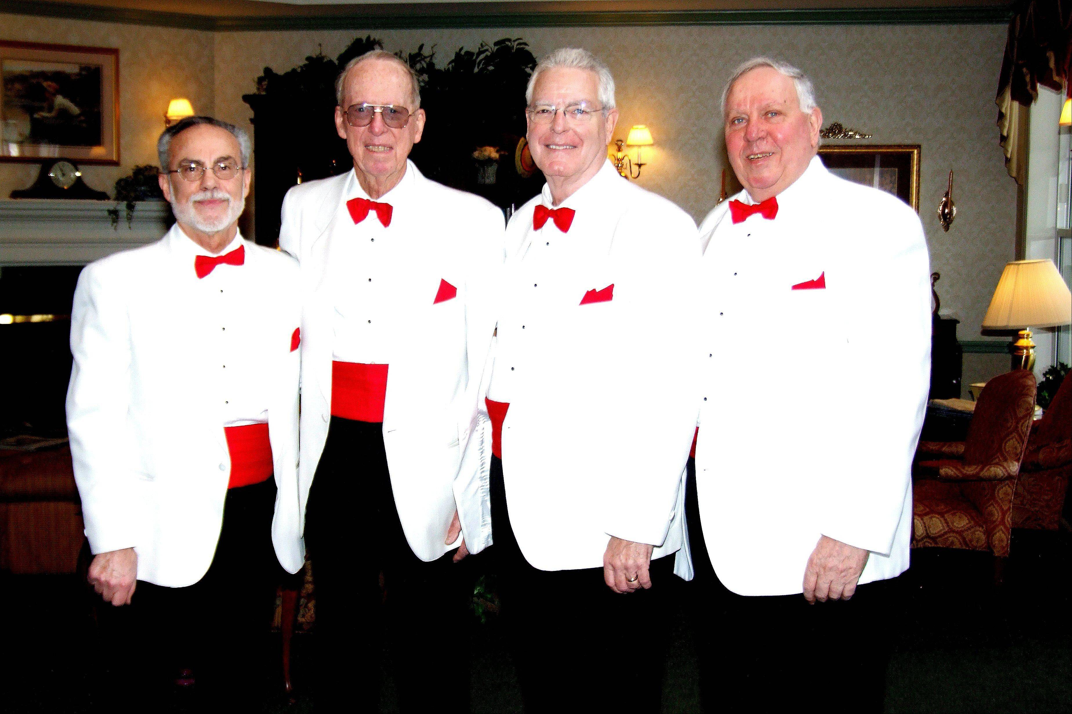 Order a singing valentine from a barbershop quartet from the Fox Valley Men of Harmony Chorus. Quartets, like the Valentine Guys, will deliver singing valentines to surprised sweethearts on Thursday, Feb. 14.
