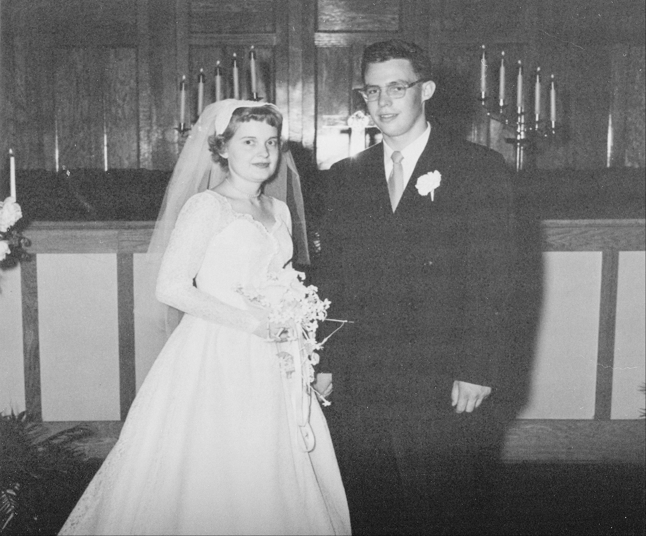 Jim Lancaster and his bride, Patti, on their wedding day.