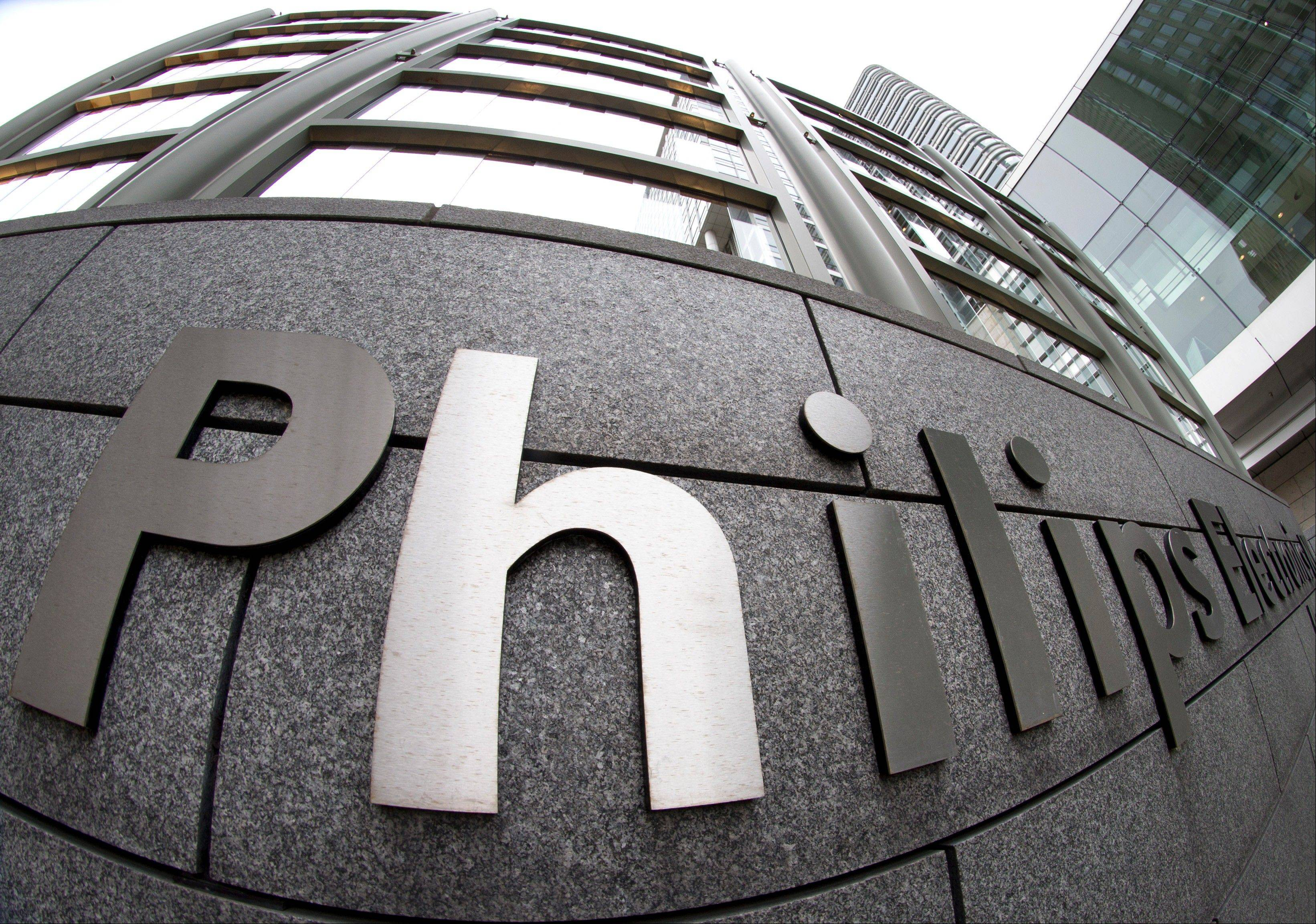 Exterior view of the headquarters of Philips in Amsterdam, Netherlands.