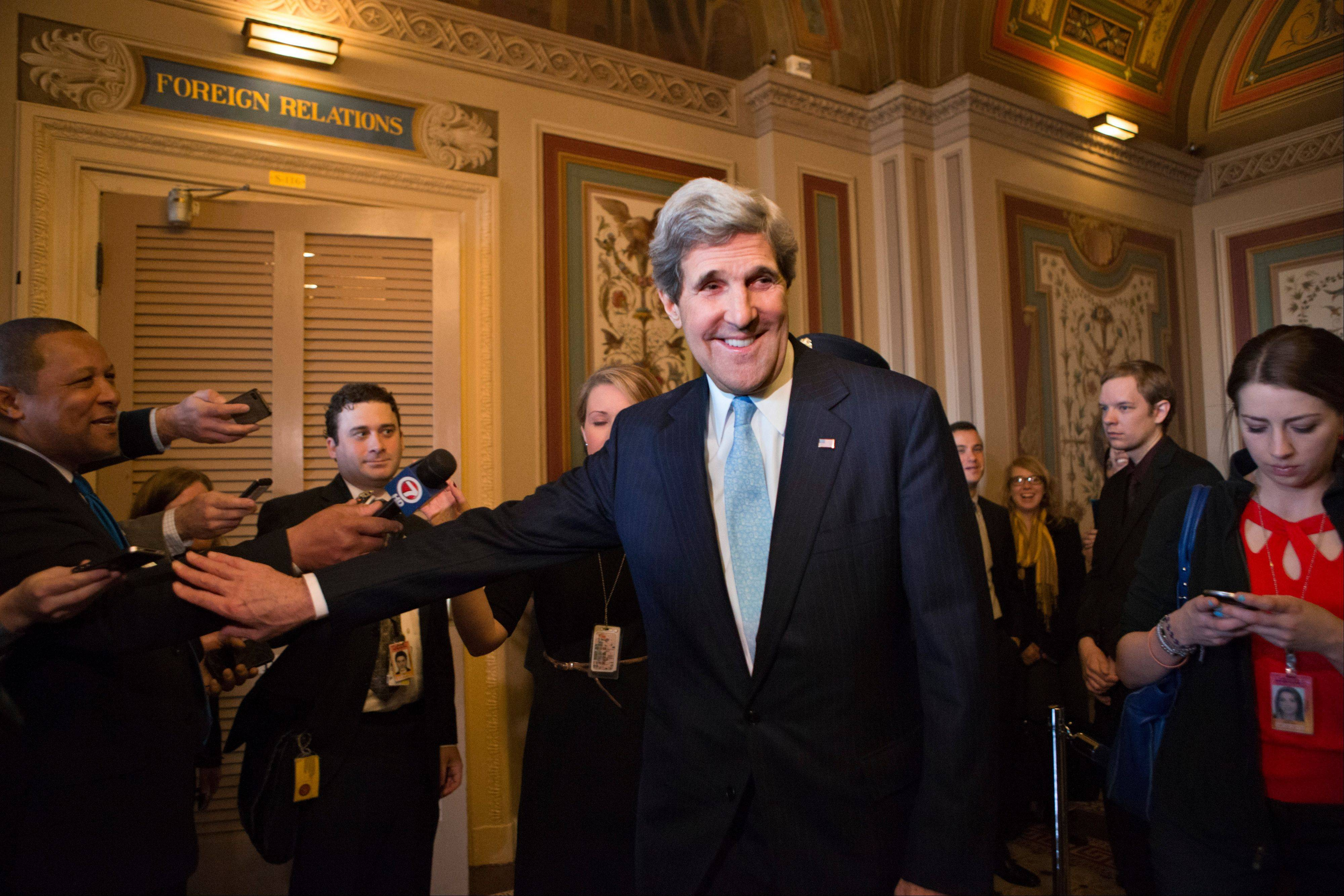 Sen. John Kerry was confirmed Tuesday by the Senate to become President Barack Obama's new secretary of state, replacing Hillary Rodham Clinton.