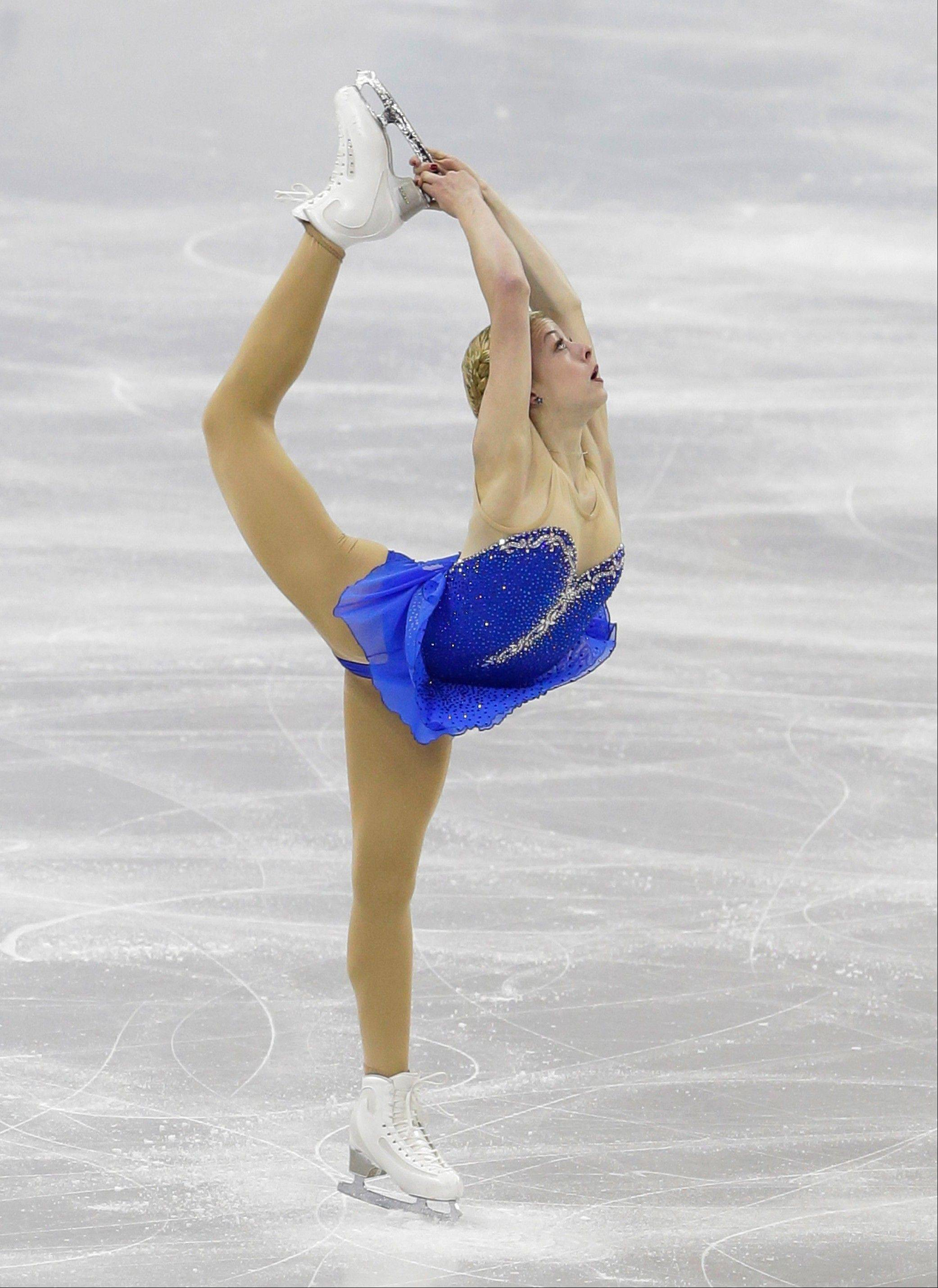 Gracie Gold competes in the senior ladies free skate program at the U.S. figure skating championships in Omaha.
