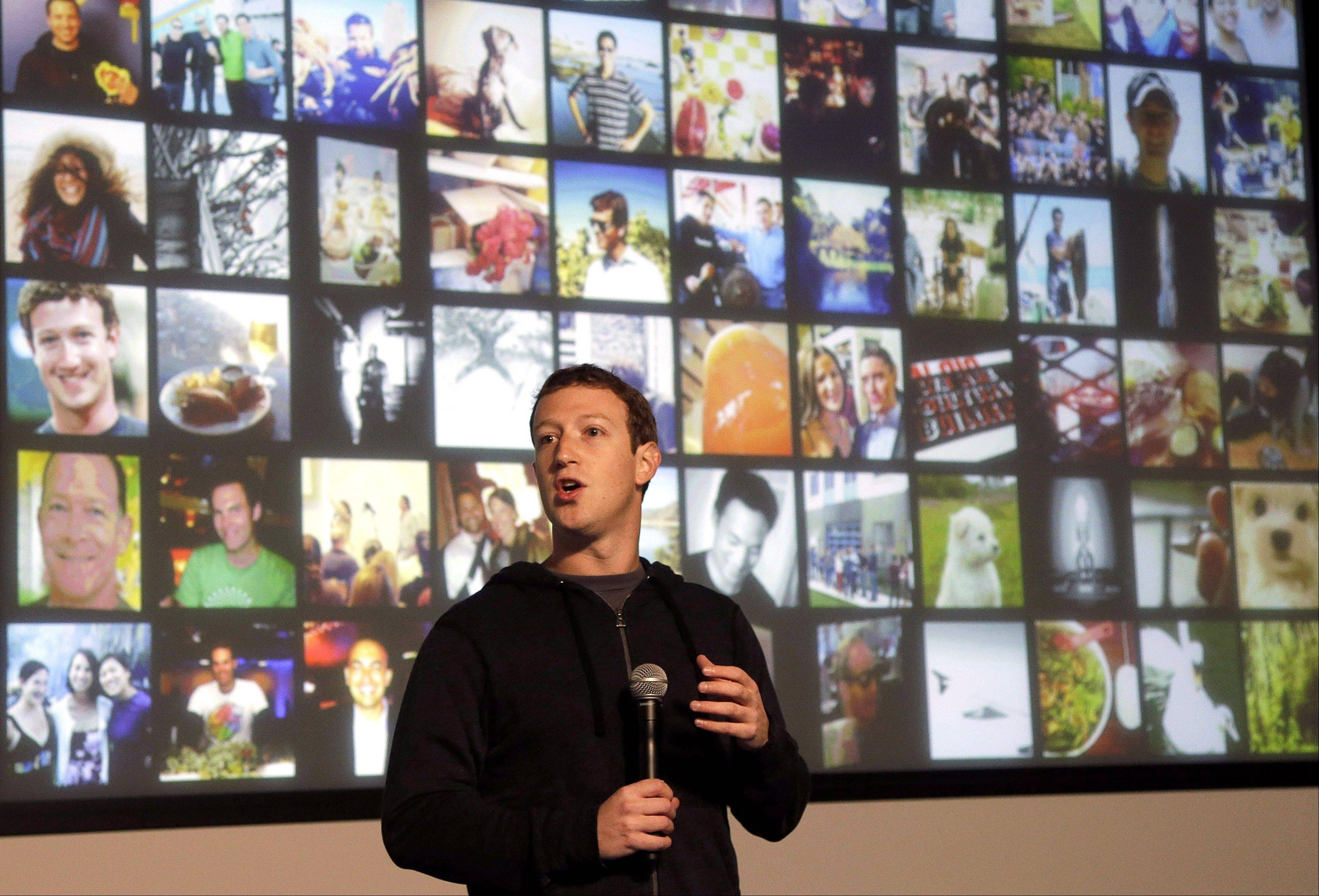Facebook CEO Mark Zuckerberg speaks at Facebook headquarters in Menlo Park, Calif., Jan. 15. Facebook reported higher earnings than expected on Wednesday.