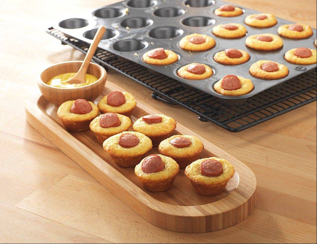 Add Mini Corn Dog Muffins to your Super Bowl menu.