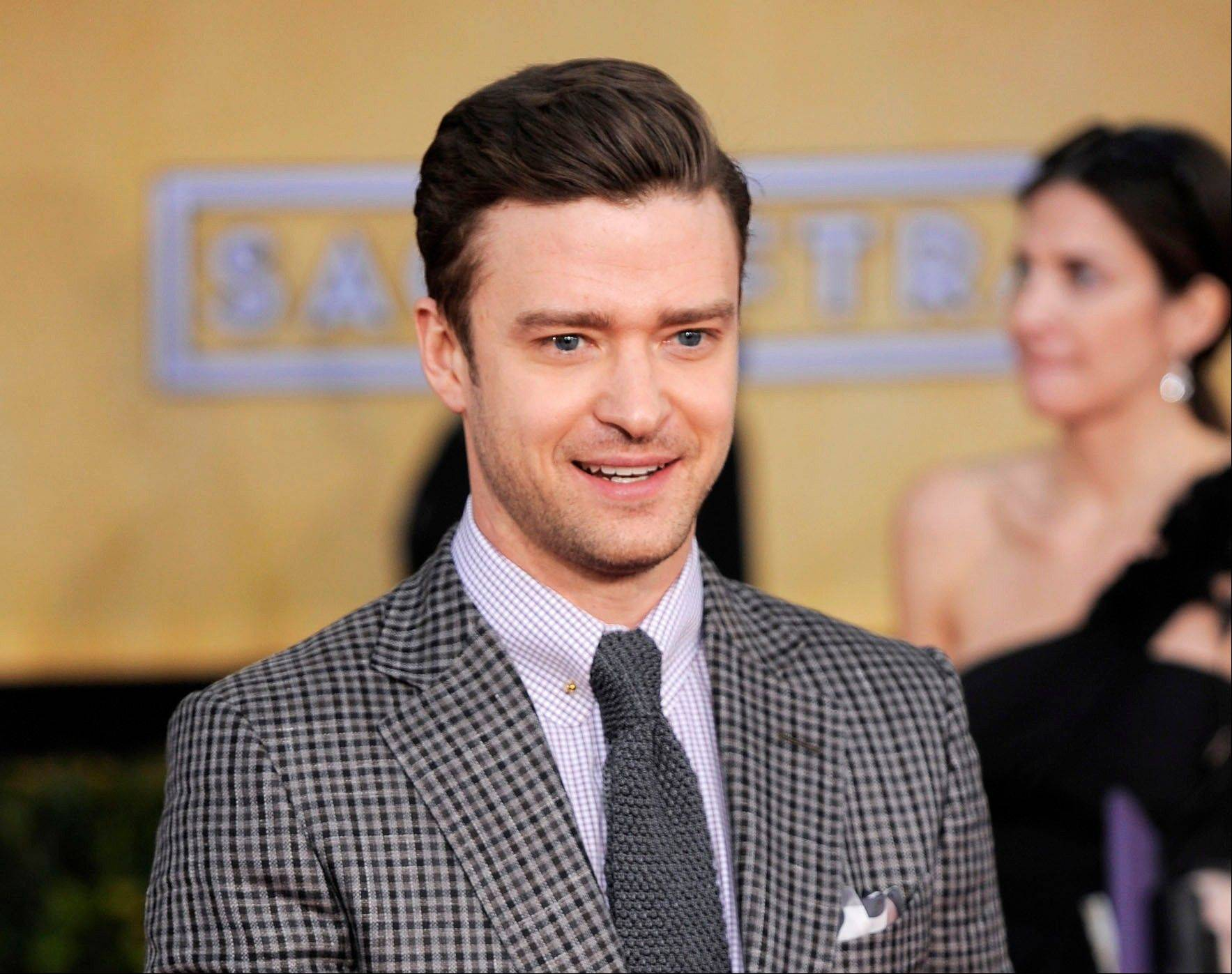 Actor-singer Justin Timberlake will perform at the Grammy Awards show on Feb. 10.