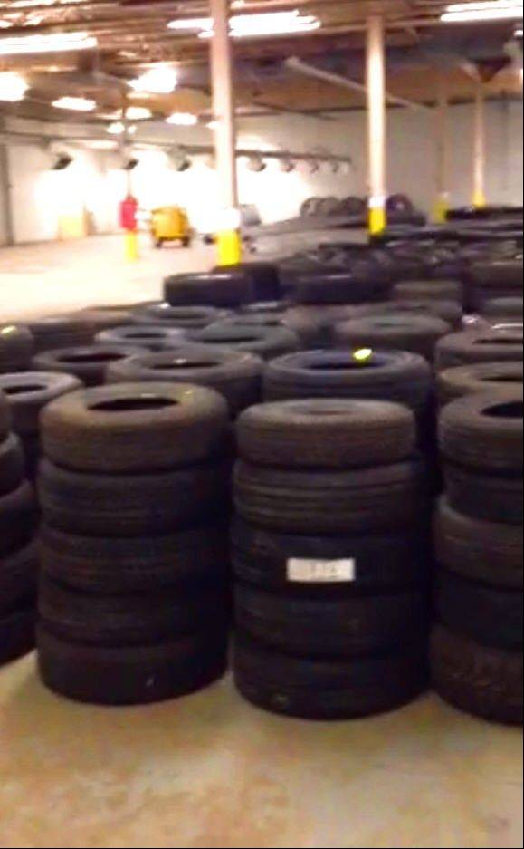 Here are some of the stolen tires that have been recovered.