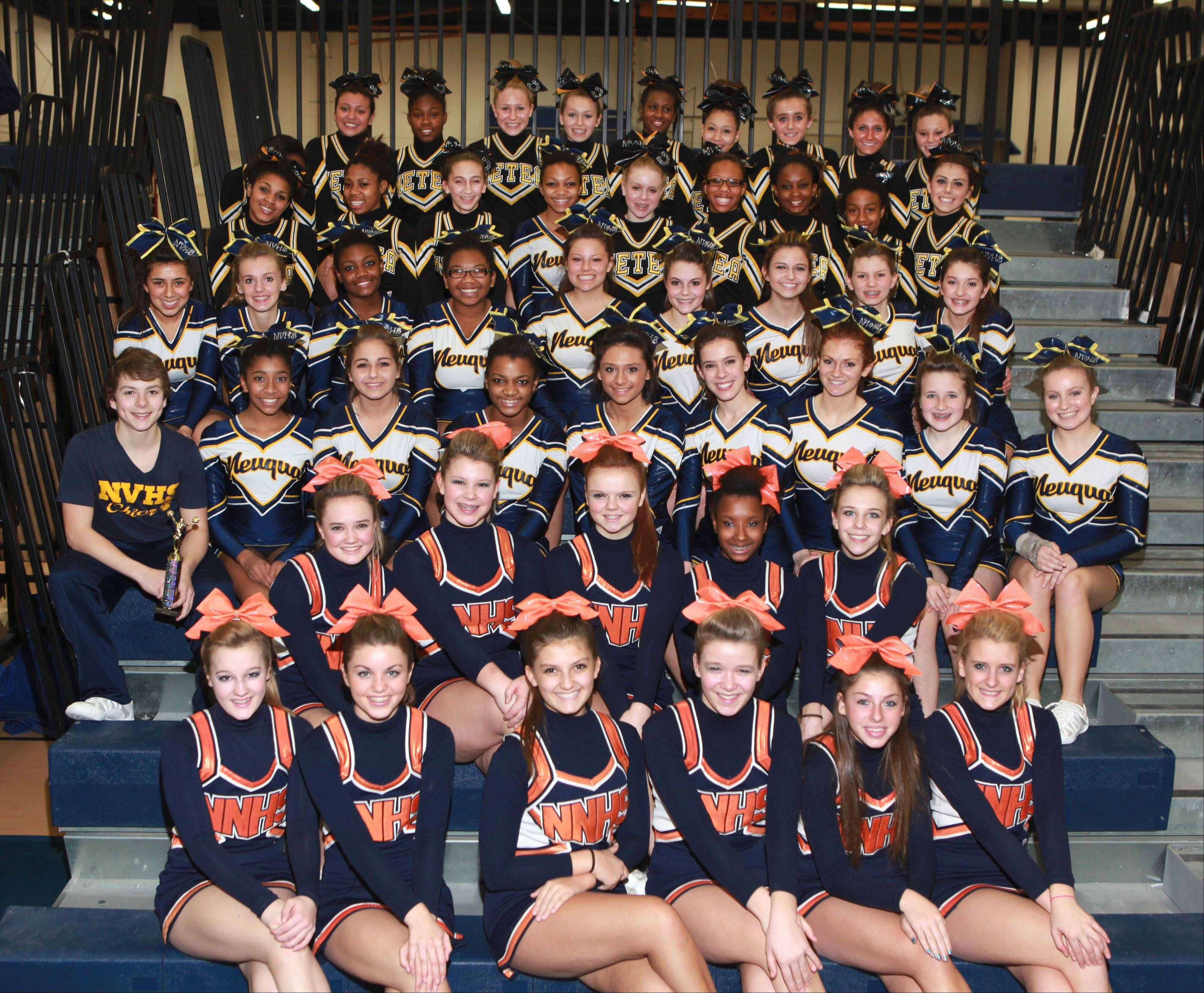 The first Naperville North Cheerleading Invitational brought together cheer squads from North, Neuqua Valley and Metea Valley and 37 other teams from nearby and as far away as Bloomington.