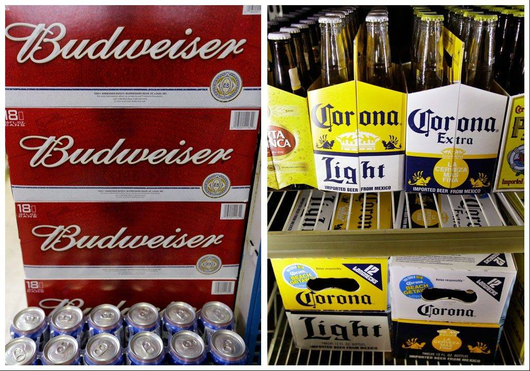 ASSOCIATED PRESSThe Justice Department on Thursday filed a lawsuit to stop Anheuser-Busch InBev's proposed $20.1 billion purchase of Mexican brewer Grupo Modelo, which would unite the ownership of popular beers like Budweiser and Corona.