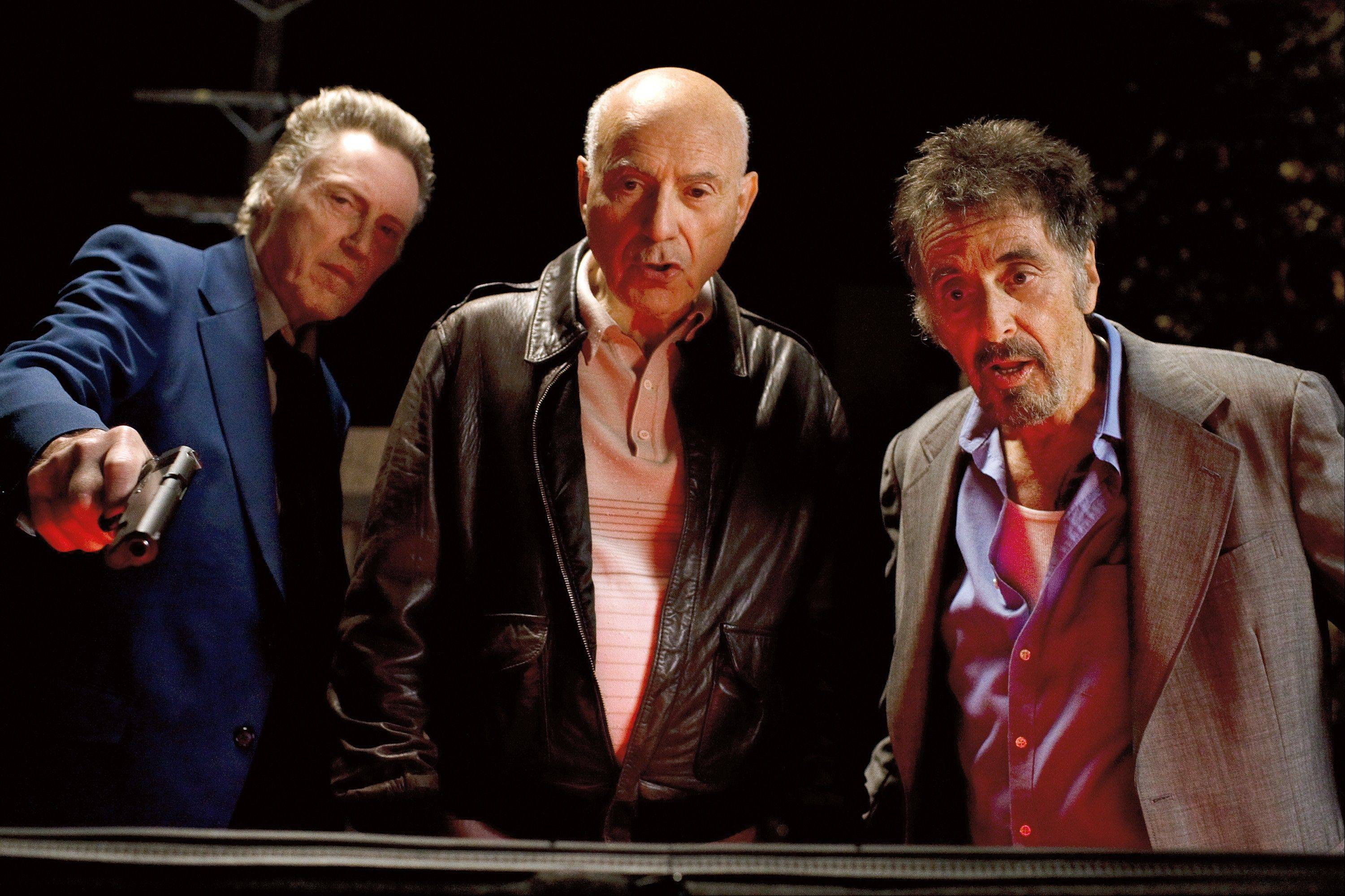 "Old friends Doc (Christopher Walken), left, Hirsch (Alan Arkin) and Val (Al Pacino) hit the town in ""Stand Up Guys."""
