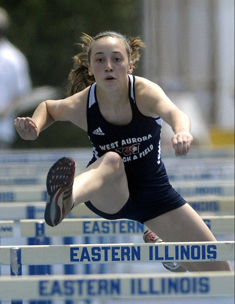 Emma Spagnola finished second in the state last year in the 100 hurdles.