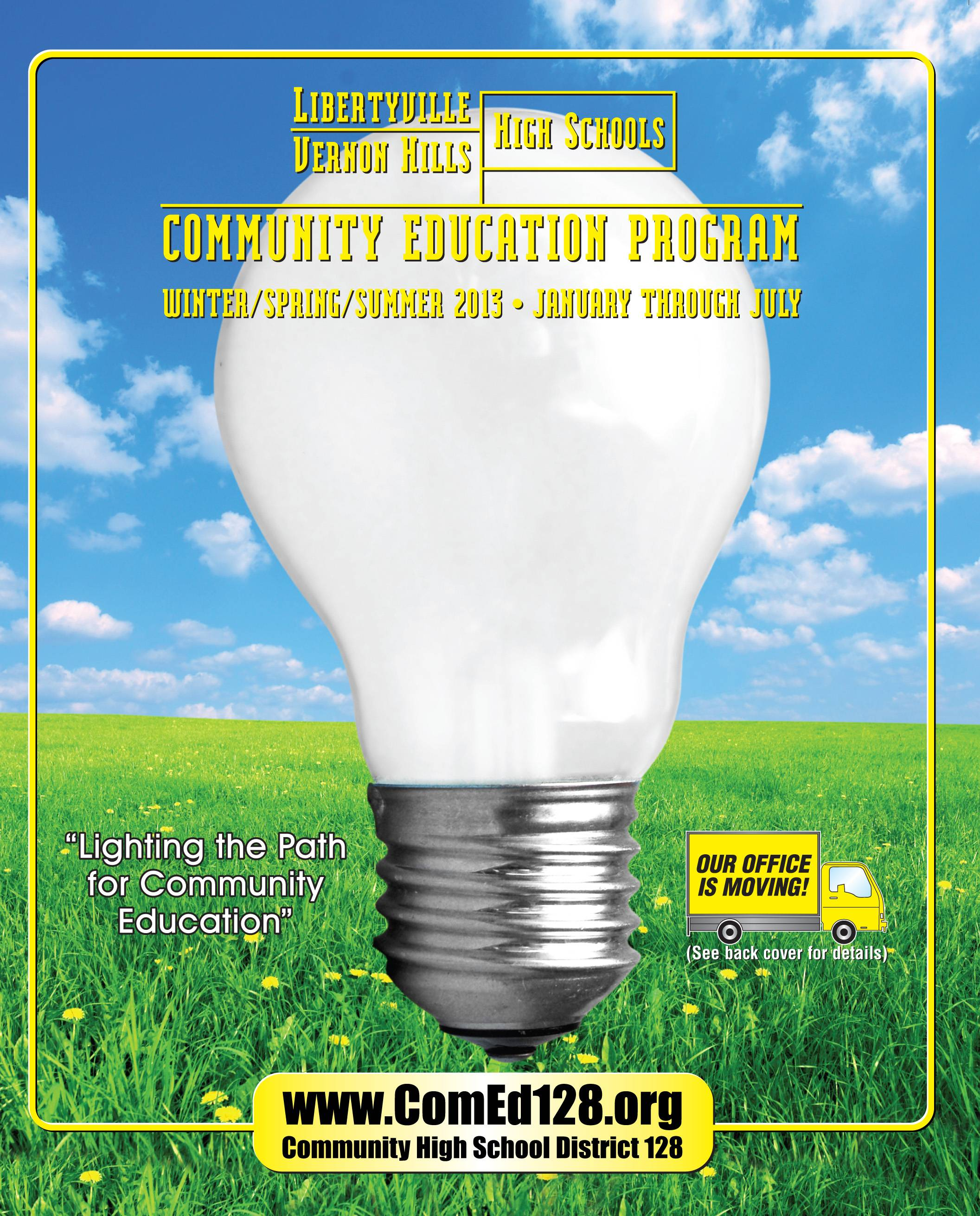 Cover of the current D128 Community Ed catalog