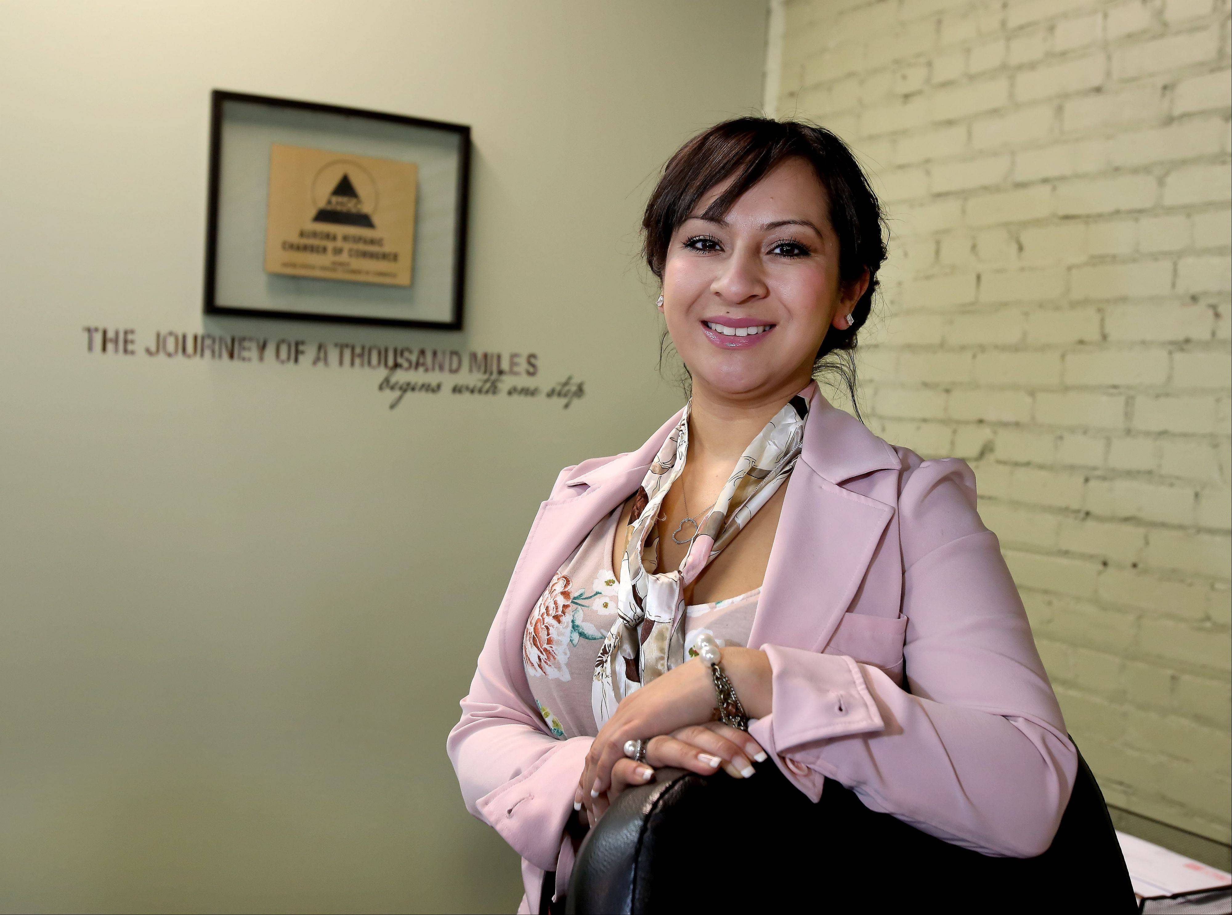 Karina Garcia is the new executive director of the Aurora Hispanic Chamber of Commerce. Garcia, 31, takes over from Interim Executive Director Jerry Campagna.