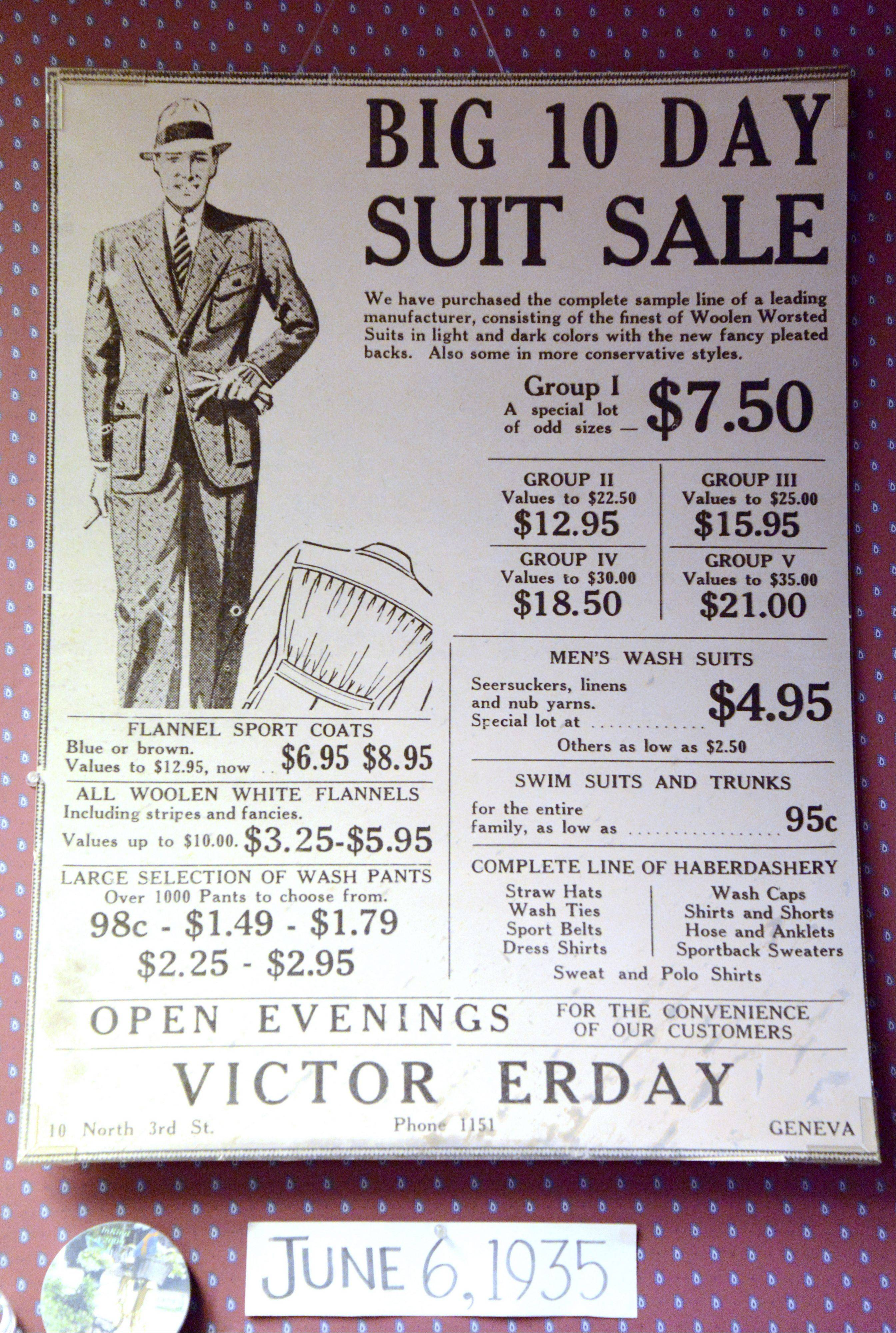 Erday's in downtown Geneva is closing after 88 years in business. The liquidation sale starts this week.