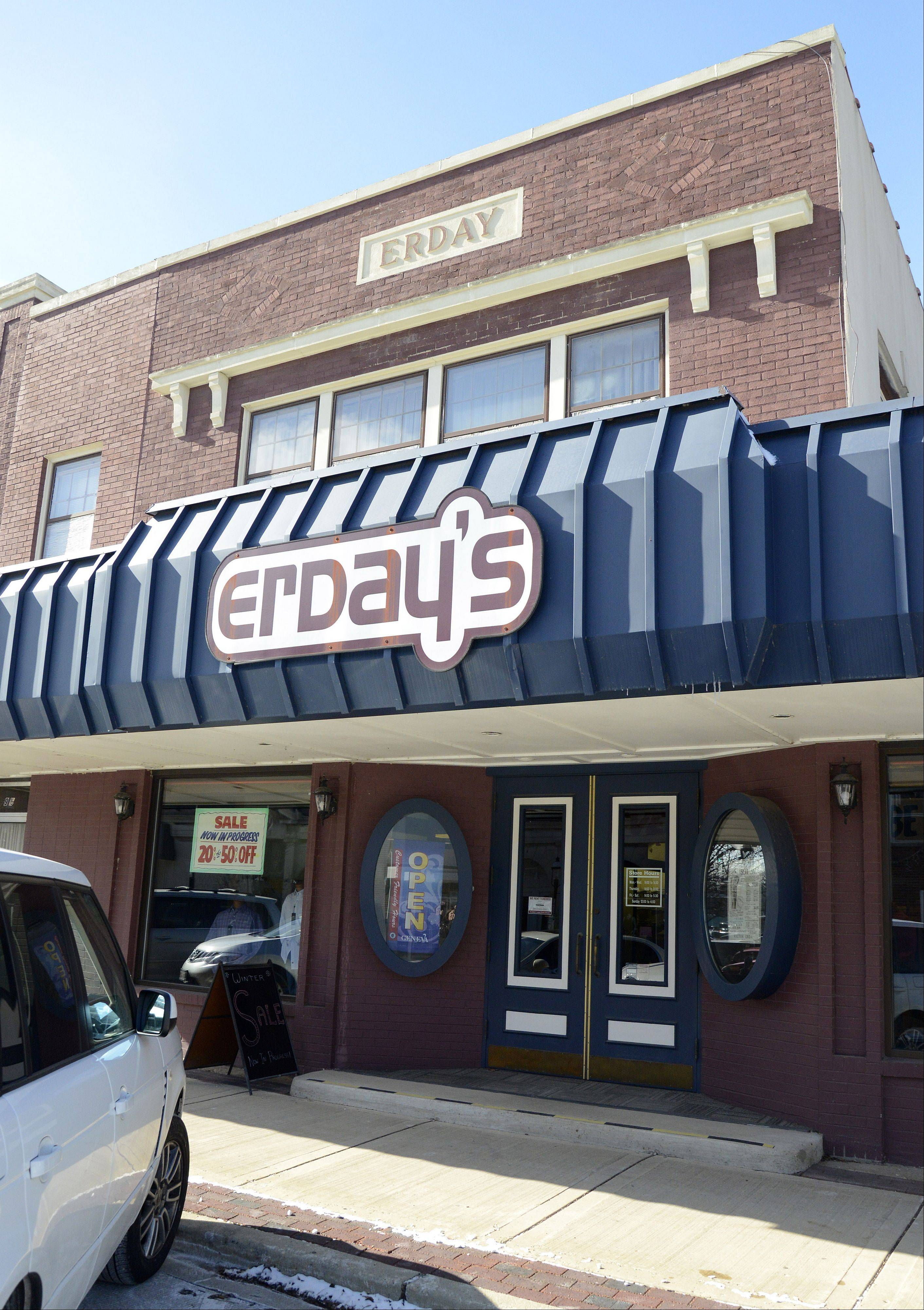 Erday's men's clothing store in Geneva is closing after nearly 88 years in business. The liquidation sale starts this week.