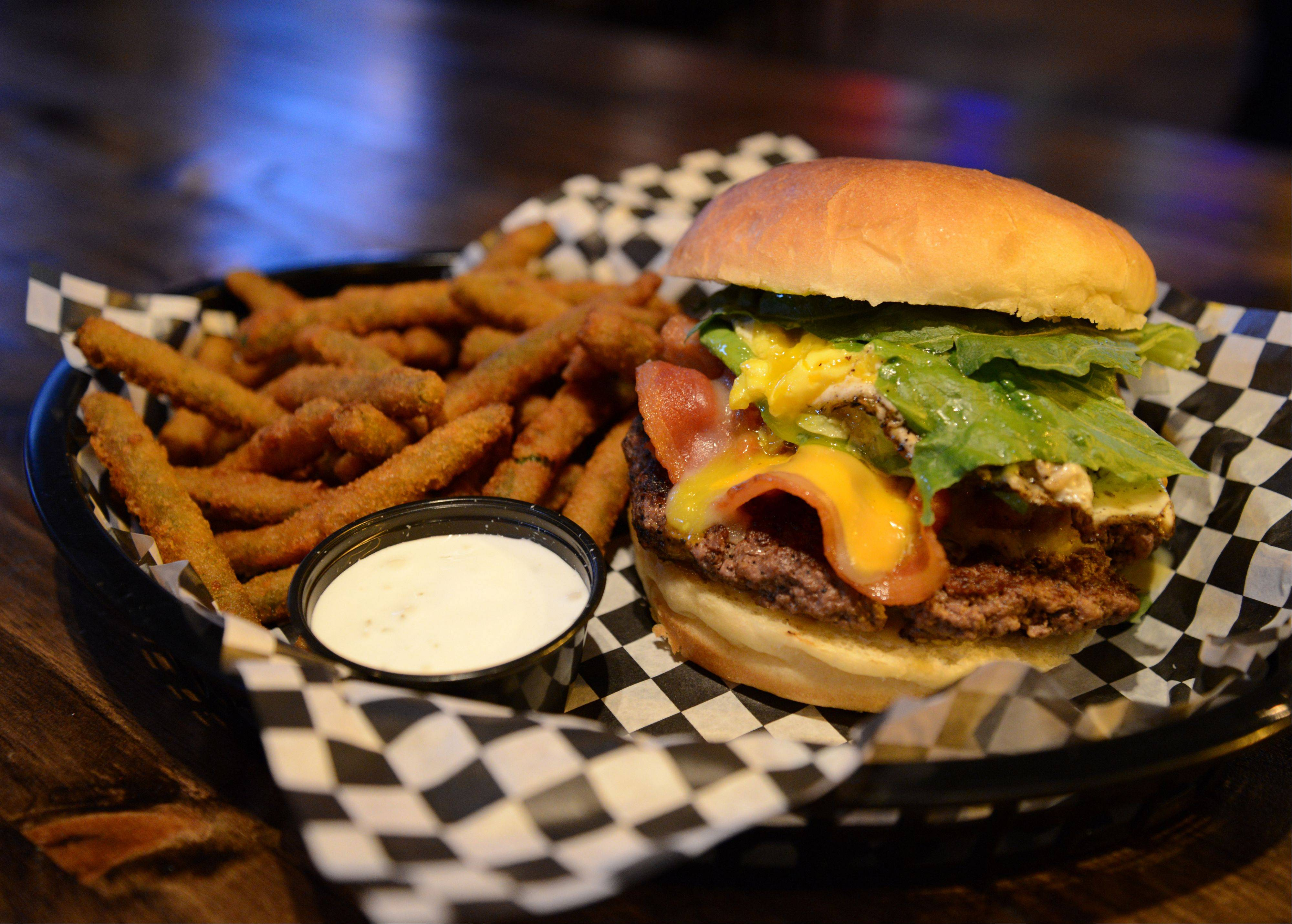Midcity Cocktails & Supper Club offers custom burgers.