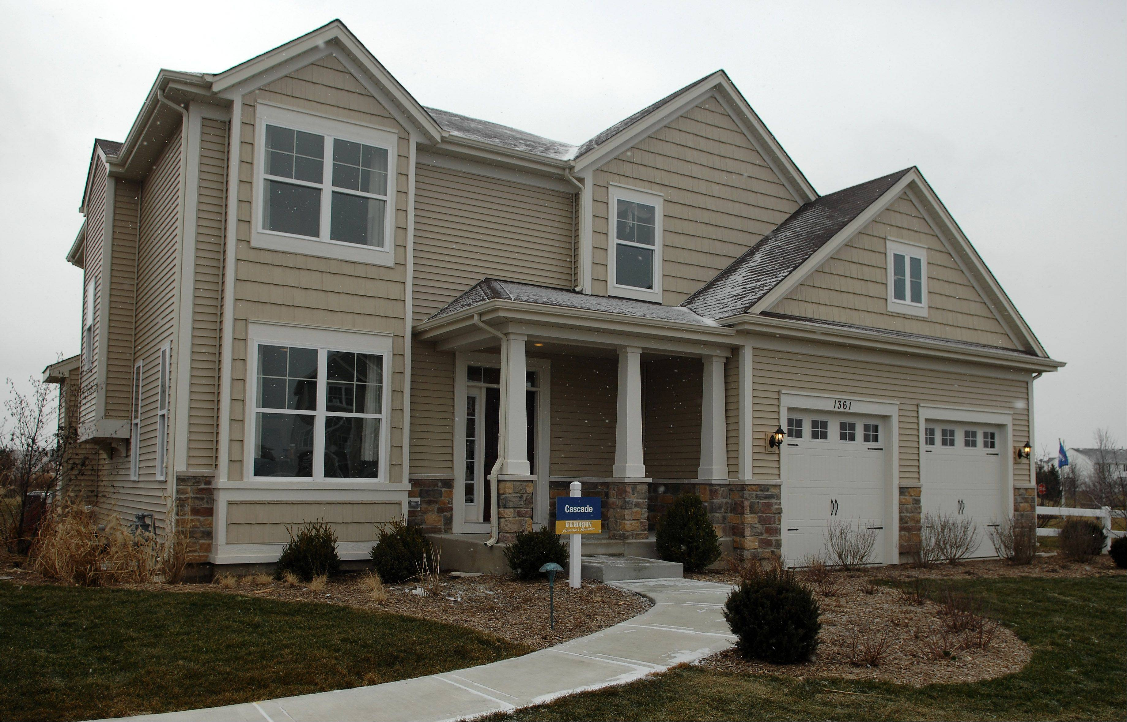 The decorated Cascade model recently opened at Cambridge Lakes in Pingree Grove.
