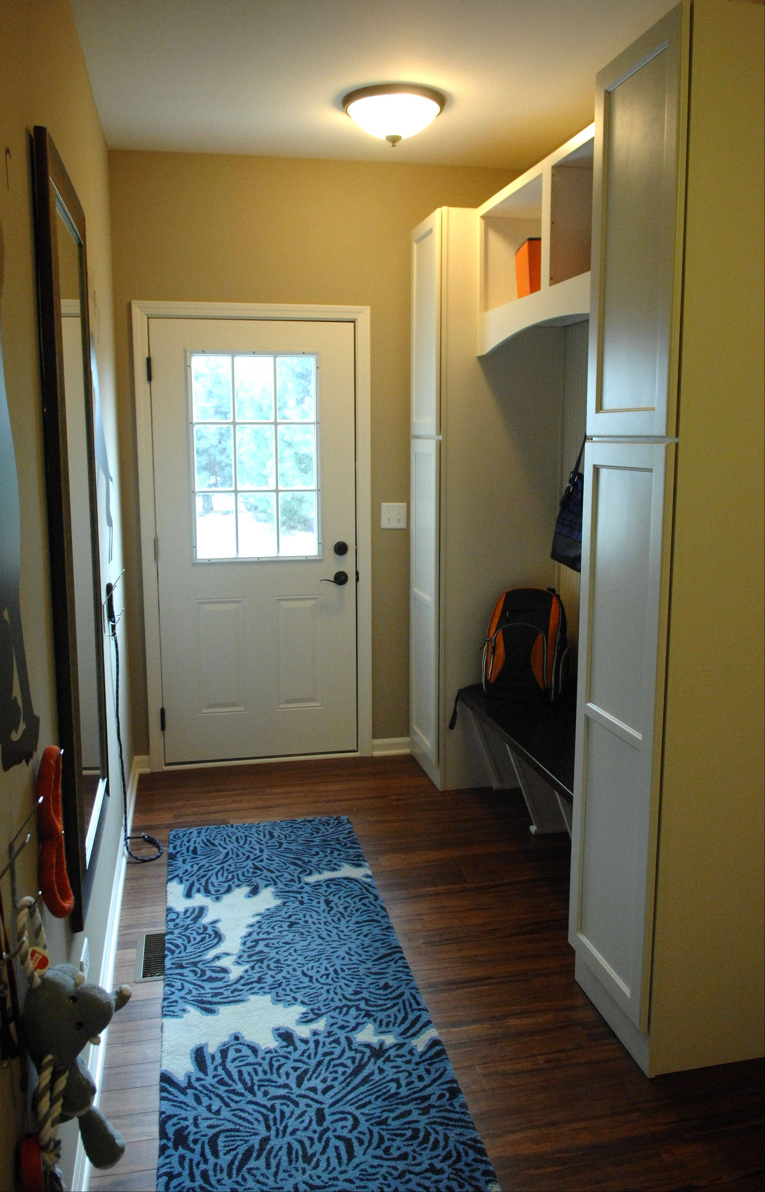 A mud room is located off the garage in the Cascade model.