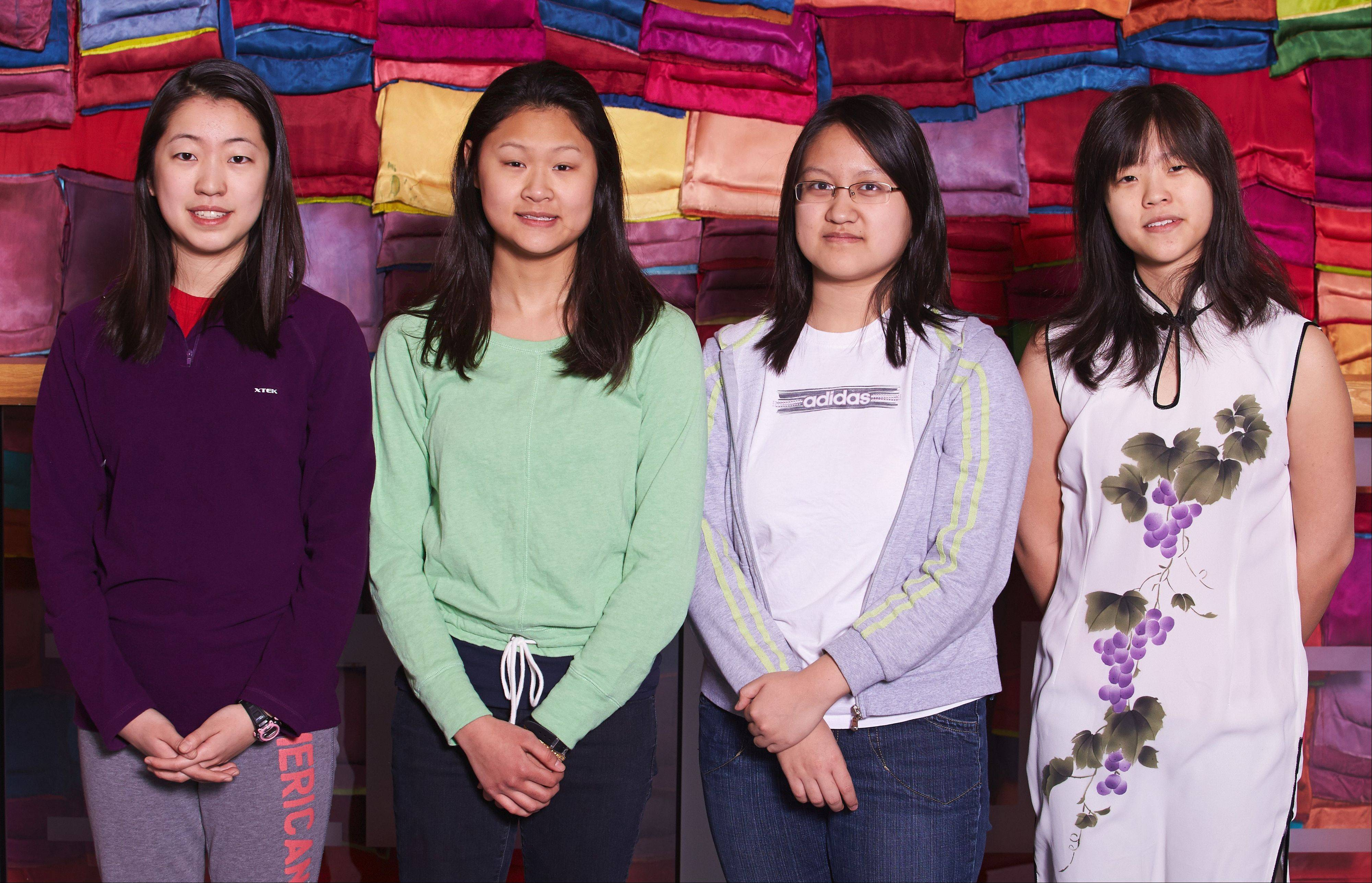 IMSA students Summer Wu of Lake Forest, Zi-Ning Choo of Naperville, Mary Do of Carpentersville and Grace Li of Schaumburg received the highest ranking in the 15th annual international High School Mathematical Contest in Modeling.