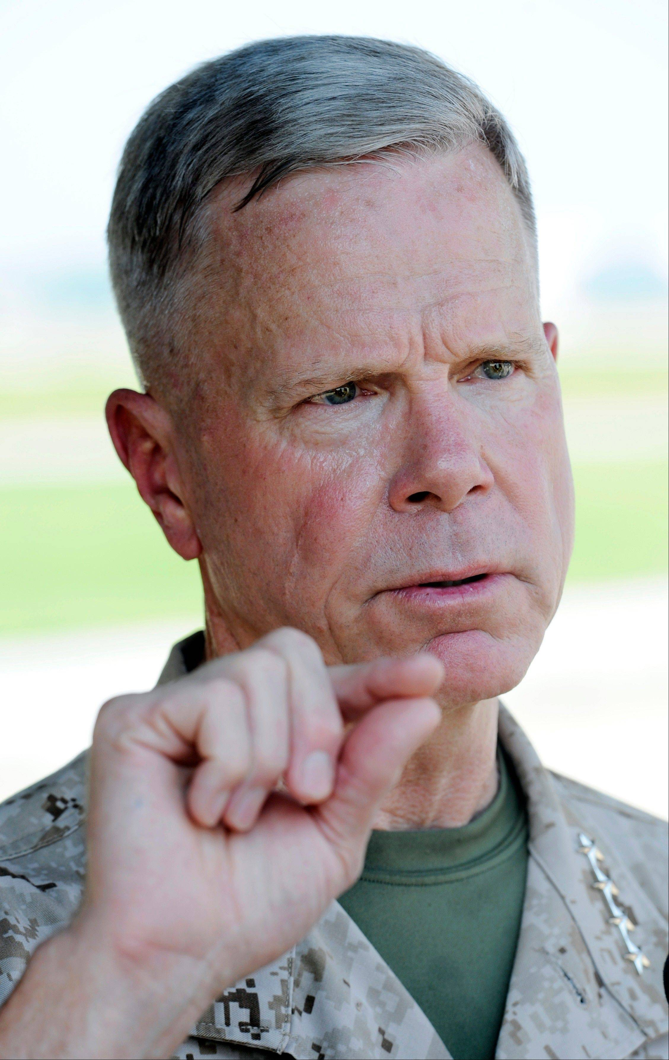 Associated Press/July 29, 2011 Marine Corps Commandant Gen. James Amos.