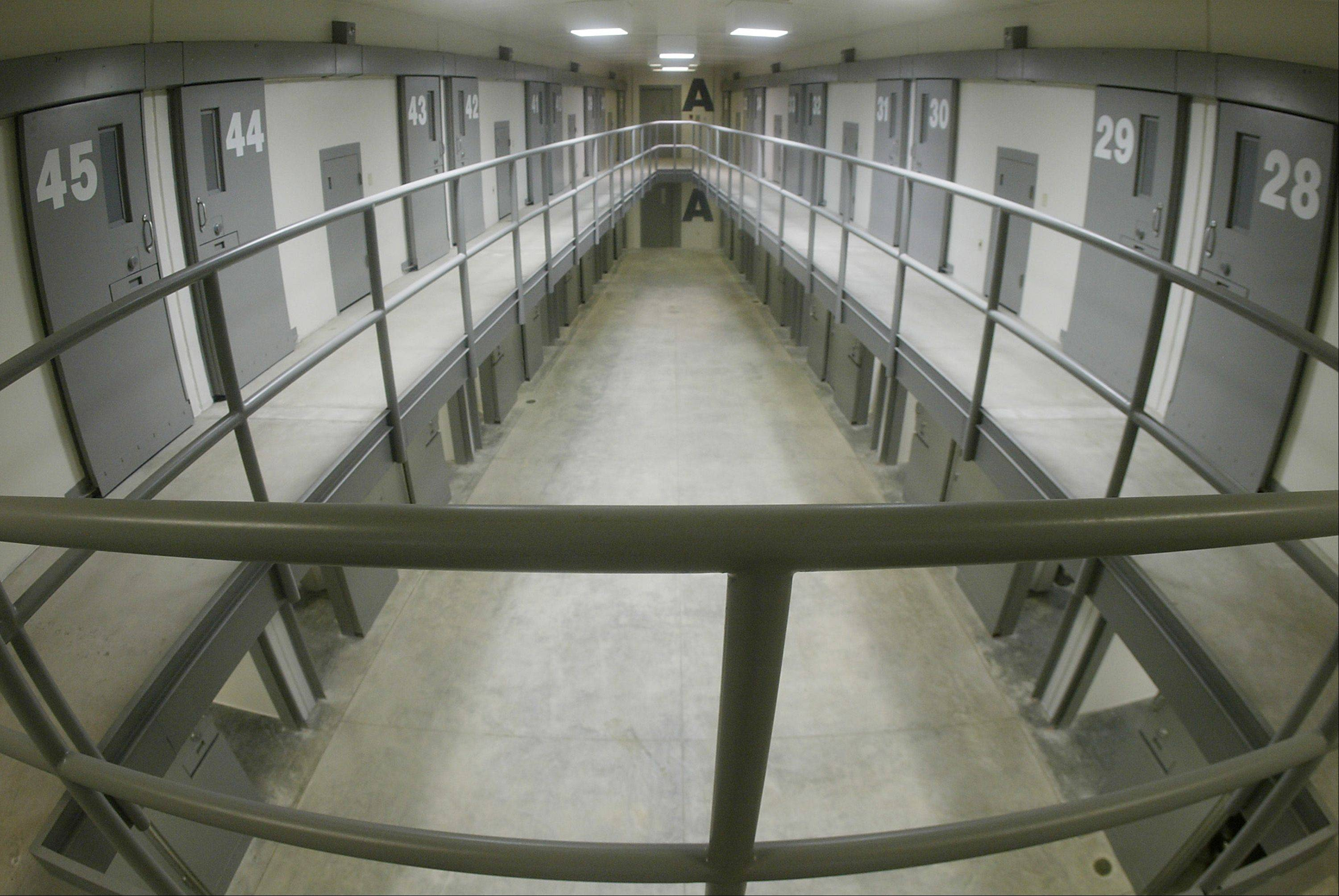 Wing A of Housing Unit 1 in the 1,600-inmate maximum-security prison in Thomson.