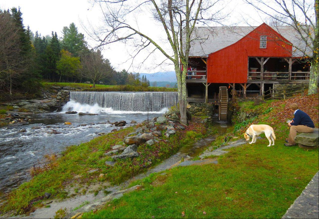 A mill in Weston, Vermont in fall of 2012.