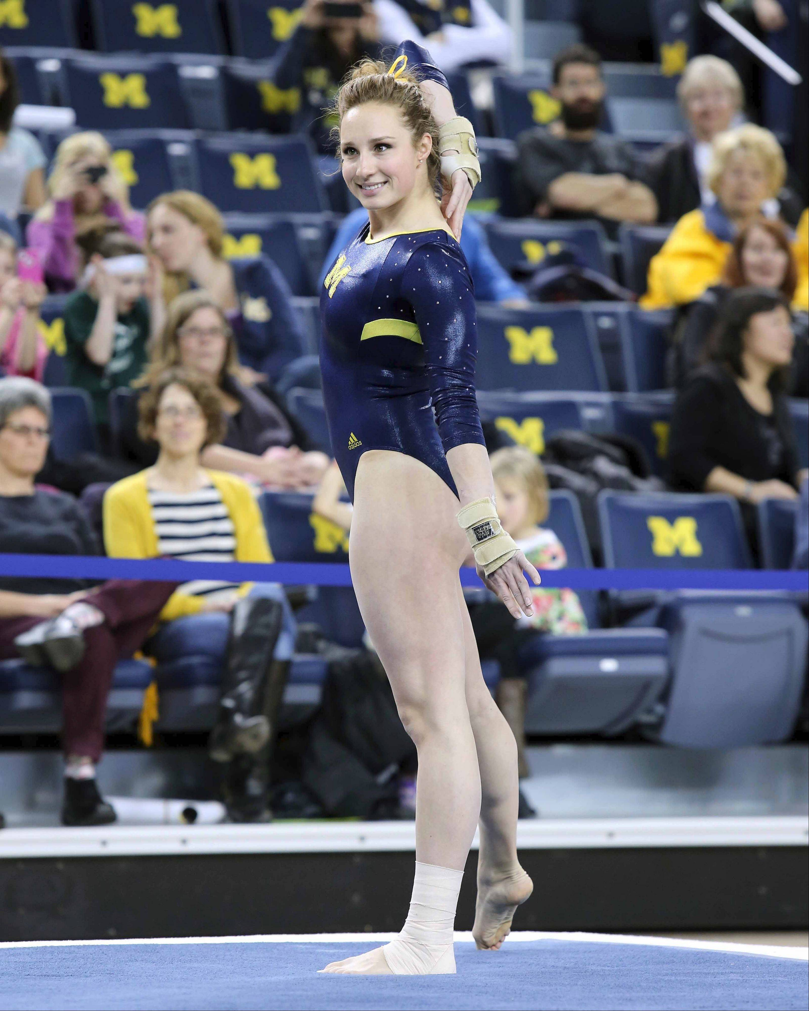 Gymnast Katie Zurales has had plenty of injuries in her career. Now she's enjoying a healthy senior season and leading the University of Michigan to a No. 3 ranking.